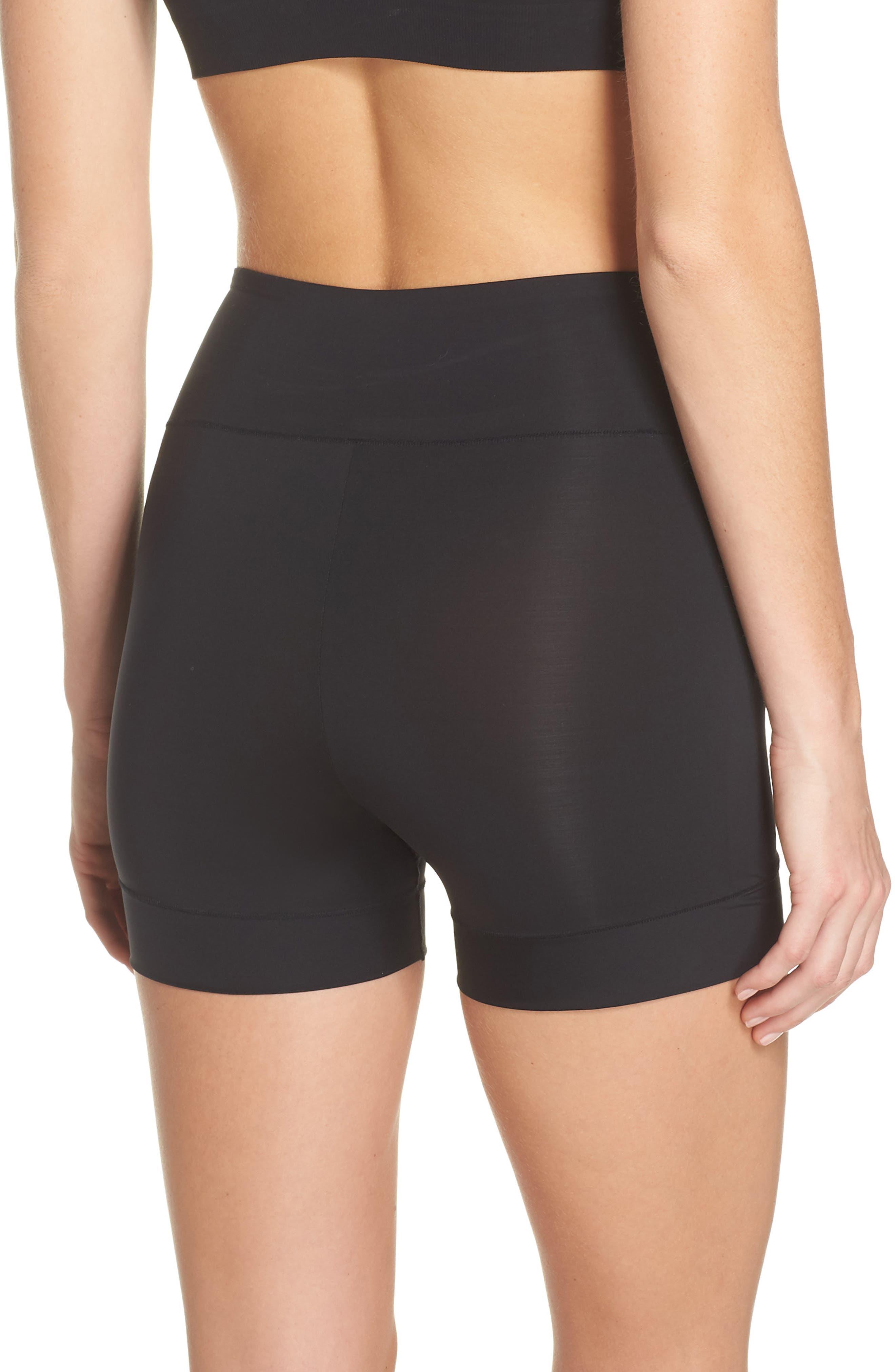Tummie Tamers Mid Waist Shaping Shorts,                             Alternate thumbnail 2, color,                             001