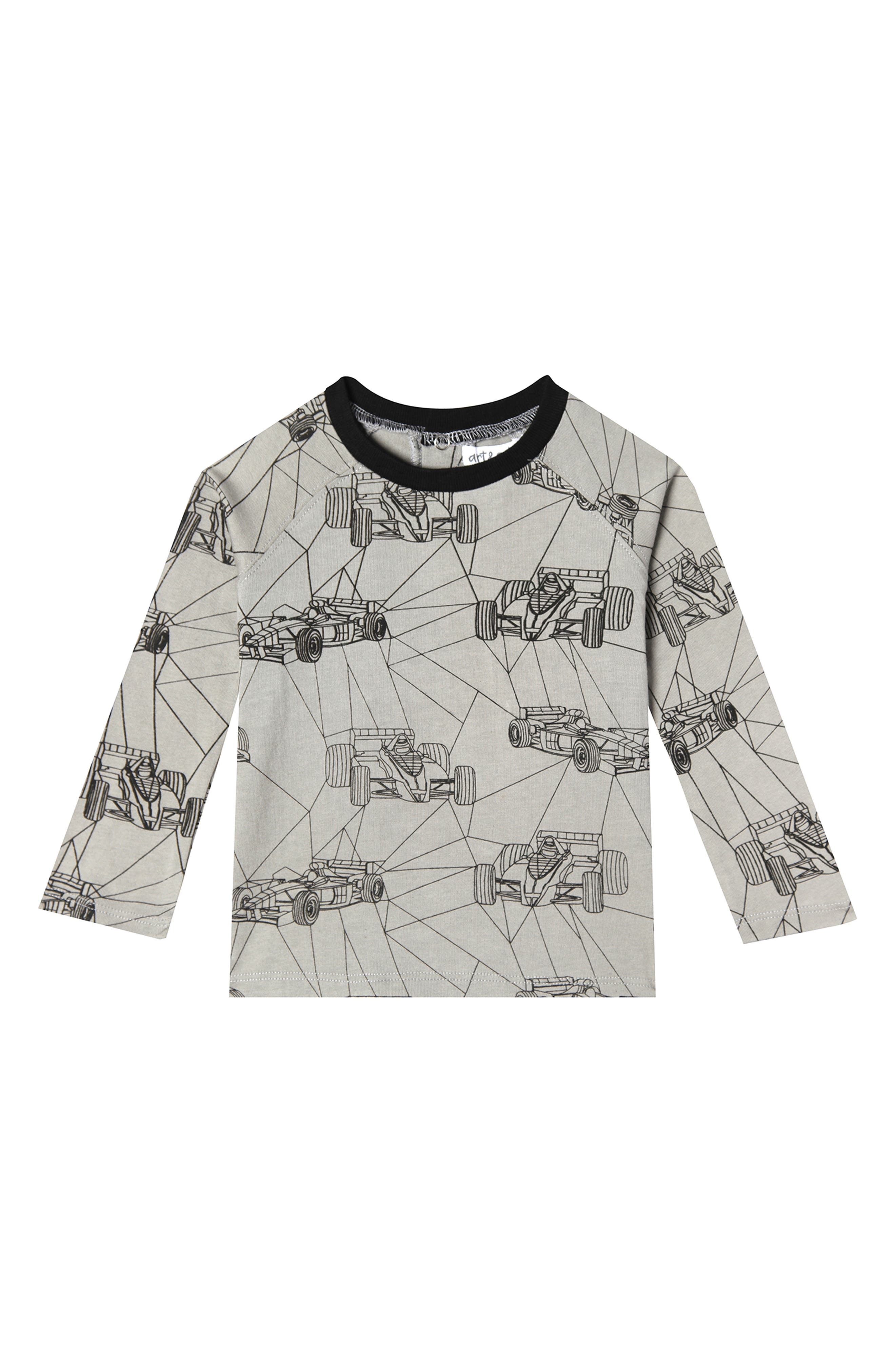 Racing Geo Organic Cotton T-Shirt,                             Main thumbnail 1, color,                             RACING GEO