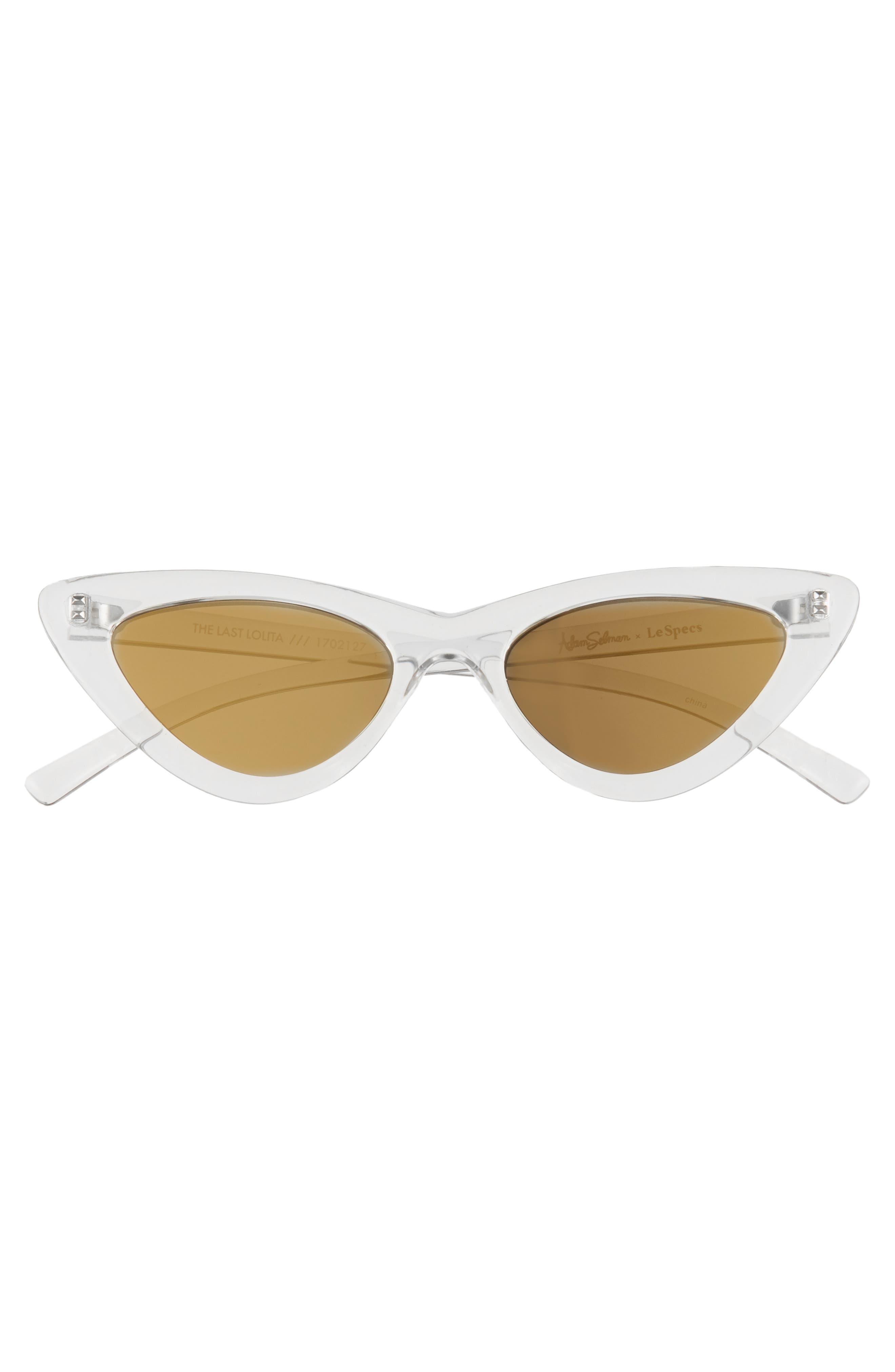 Lolita 49mm Cat Eye Sunglasses,                             Alternate thumbnail 3, color,                             CRYSTAL GREY