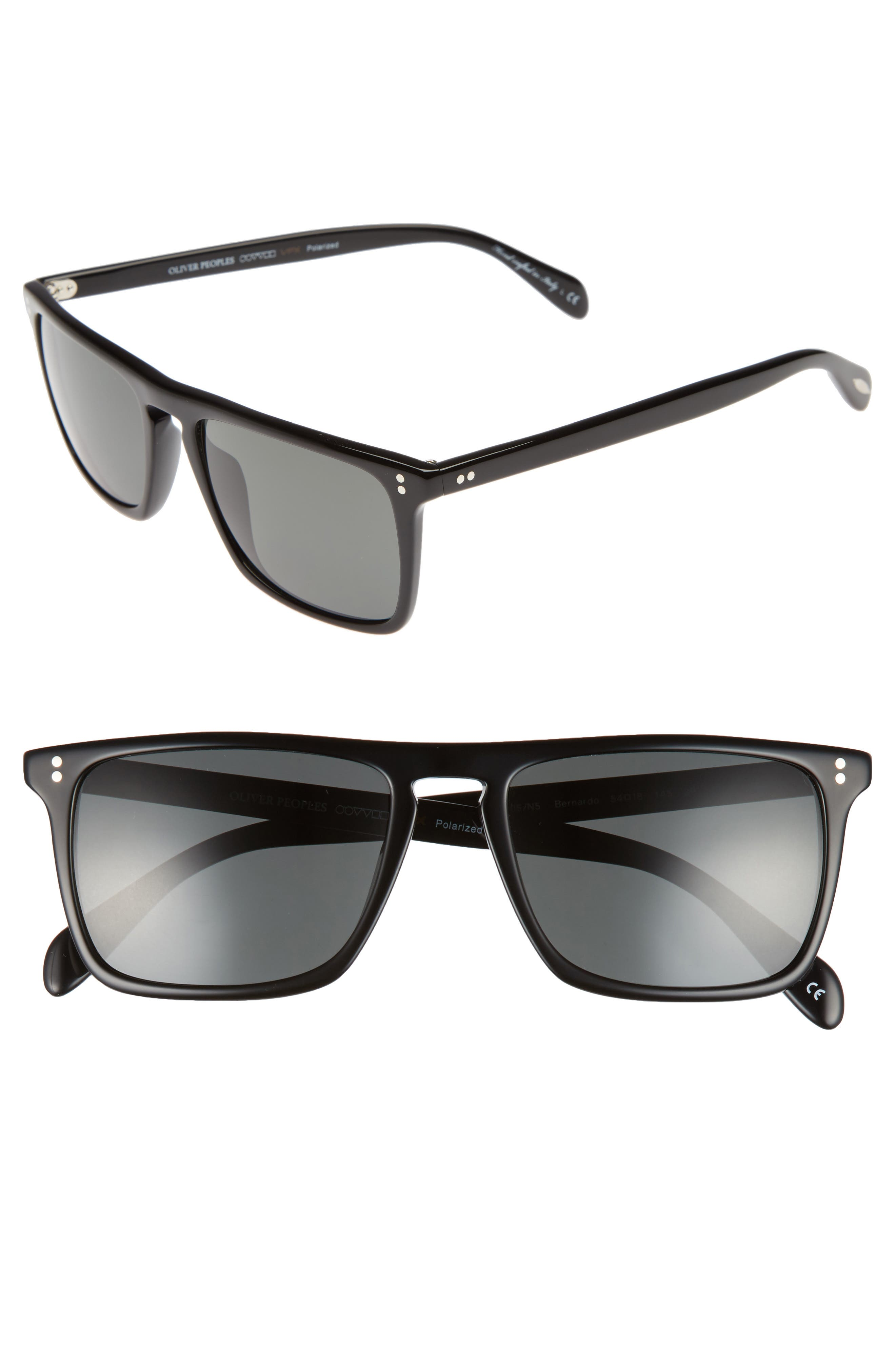 Bernardo 54mm Polarized Sunglasses,                             Main thumbnail 1, color,                             001