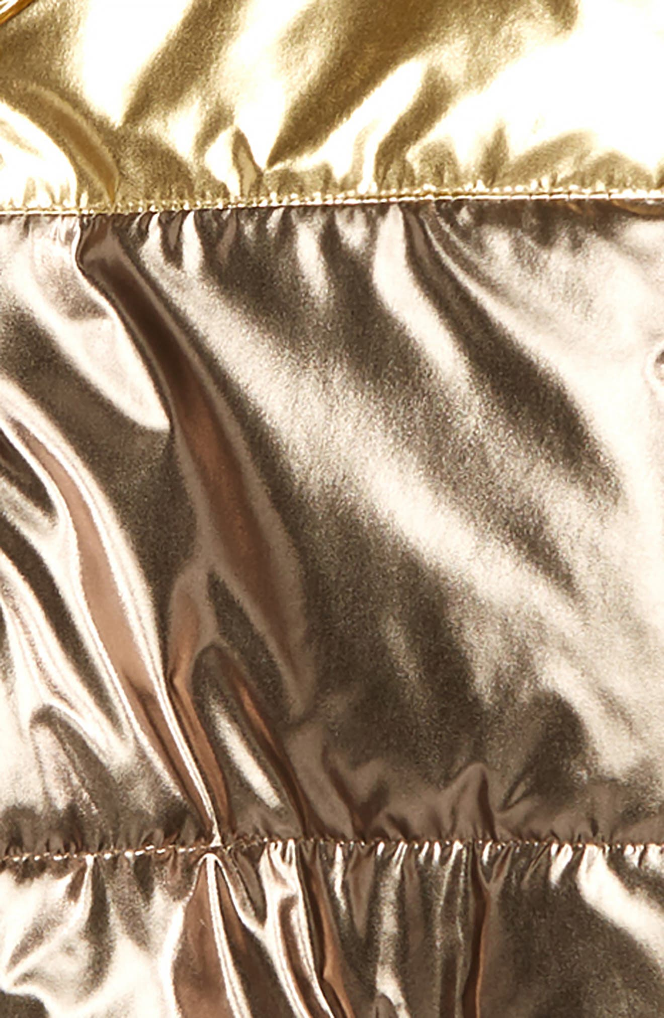 Metallic Hooded Puffer Jacket,                             Alternate thumbnail 2, color,                             GOLD METALLIC