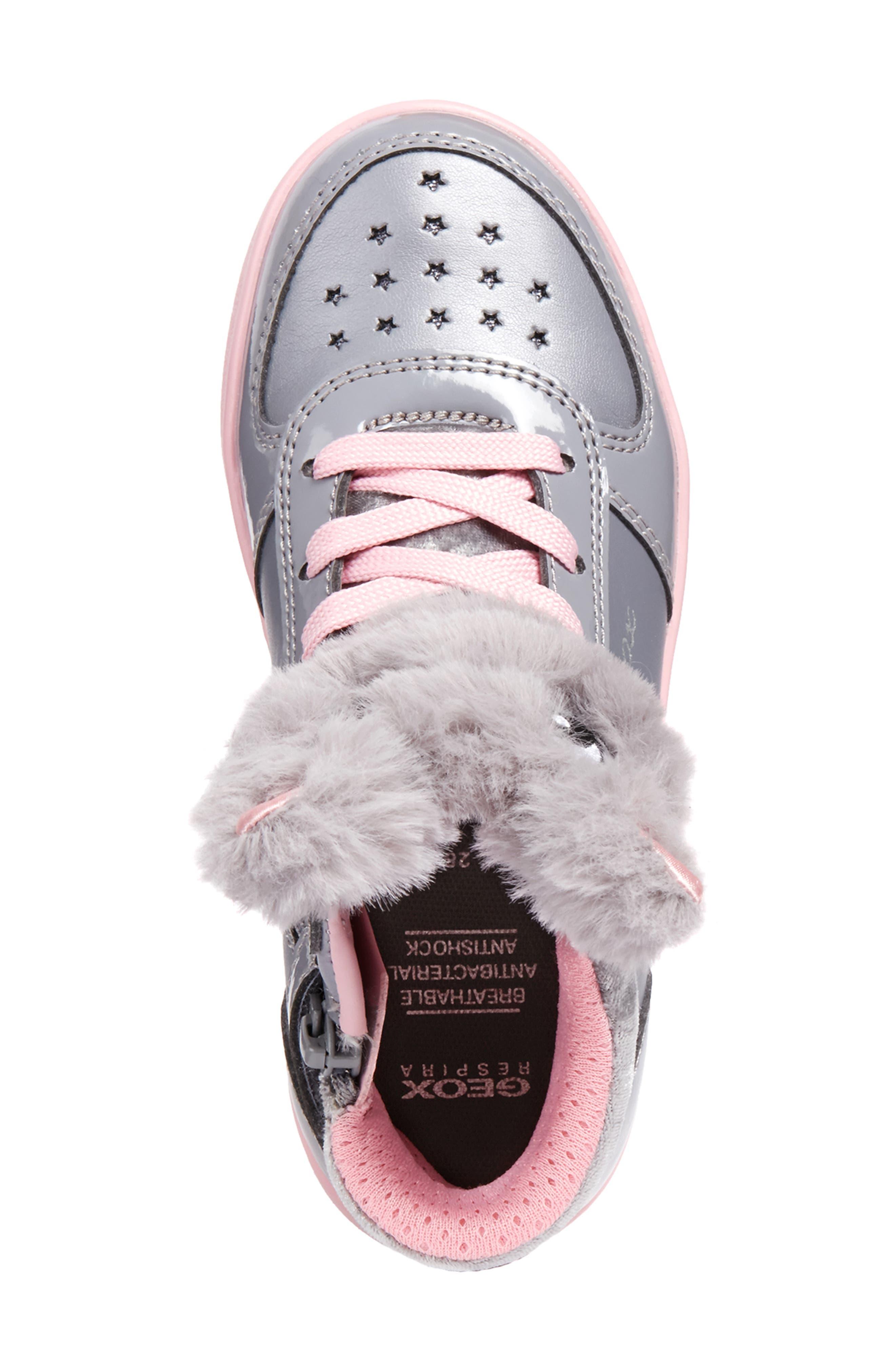 DJ Rock Fuzzy Friend Sneaker,                             Alternate thumbnail 5, color,                             GREY/PINK