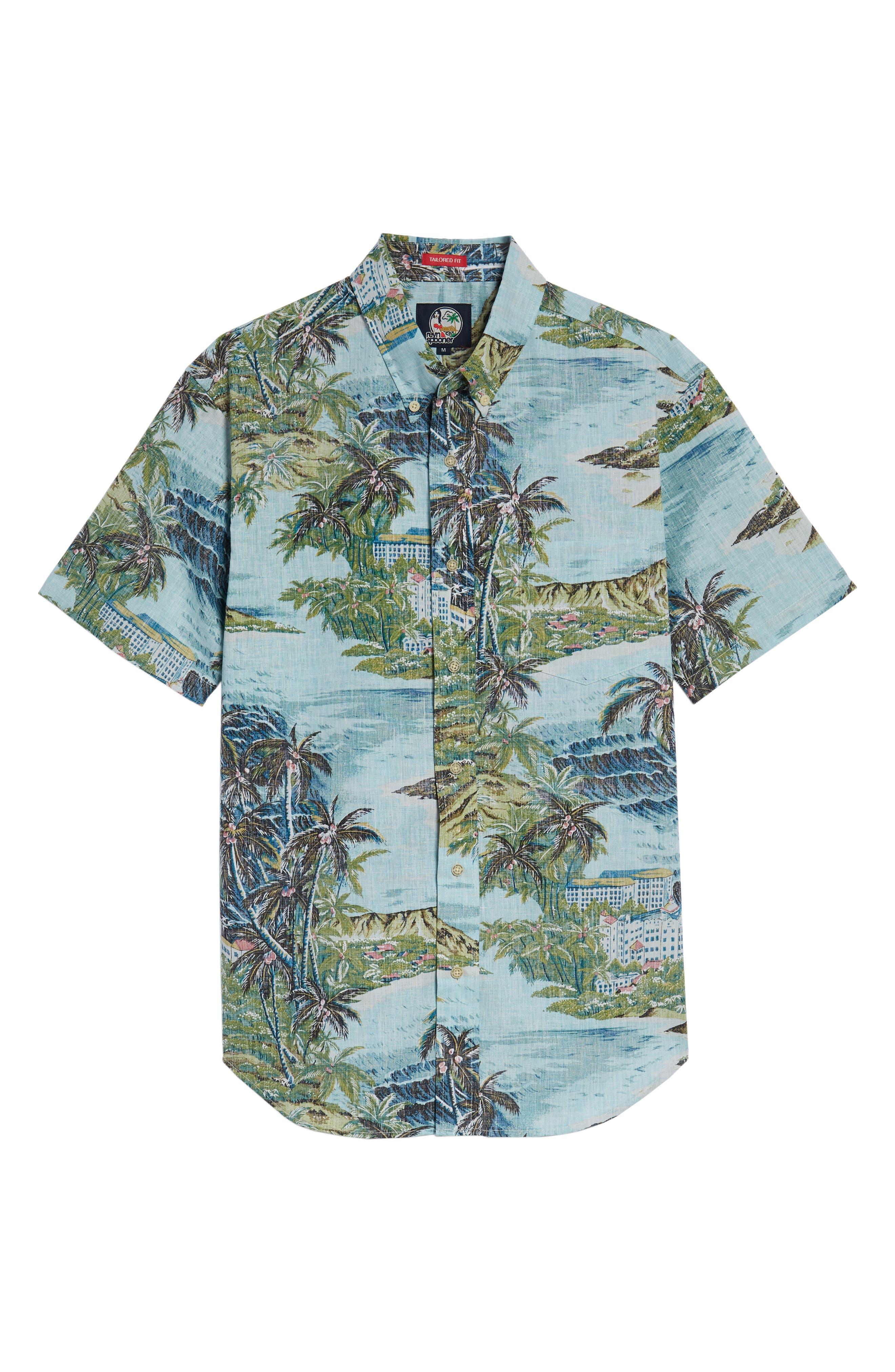 Diamond Head Classic Fit Print Sport Shirt,                             Alternate thumbnail 6, color,                             450