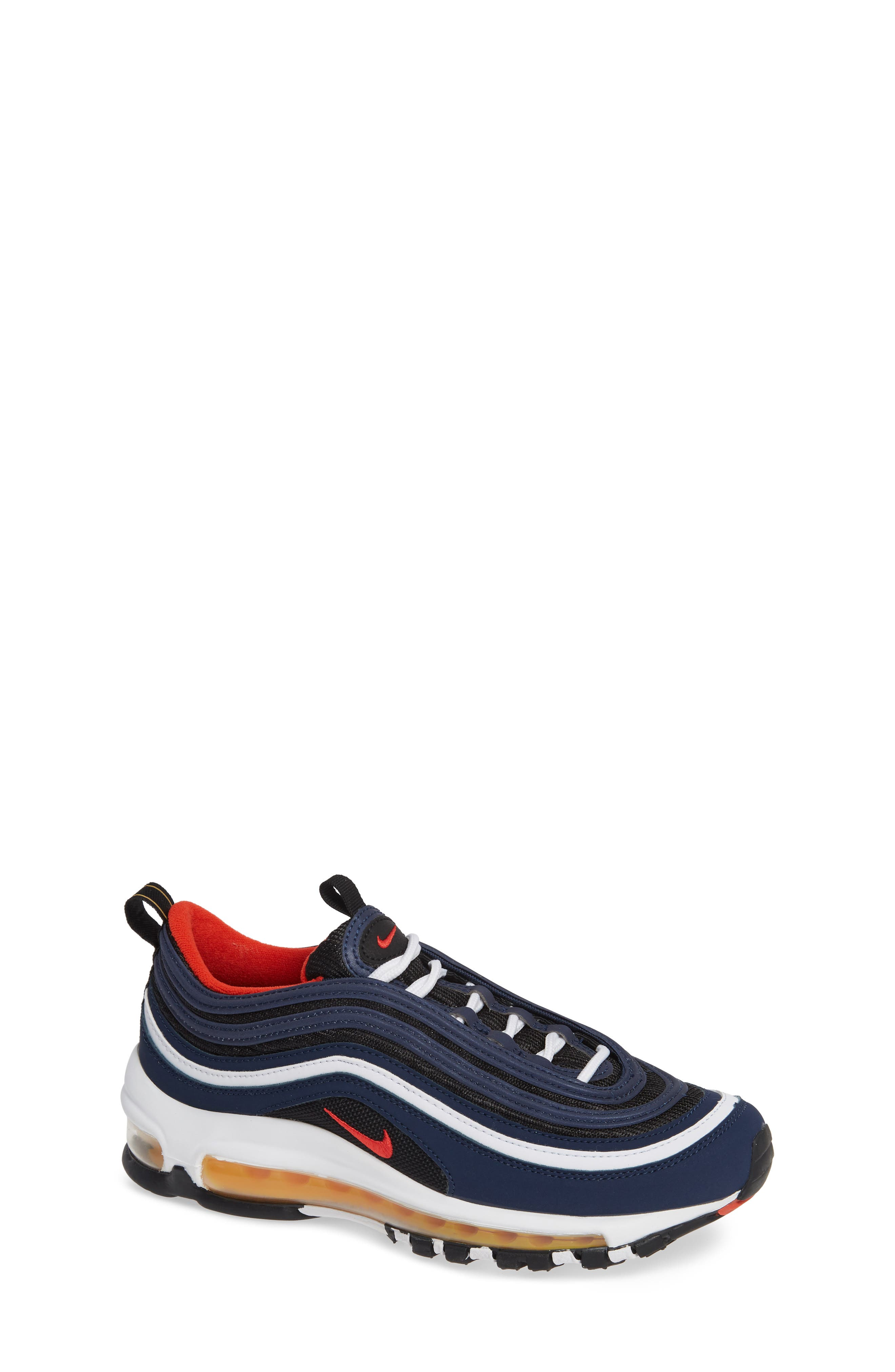 Air Max 97 Sneaker,                         Main,                         color, MIDNIGHT NAVY/RED BLACK WHITE