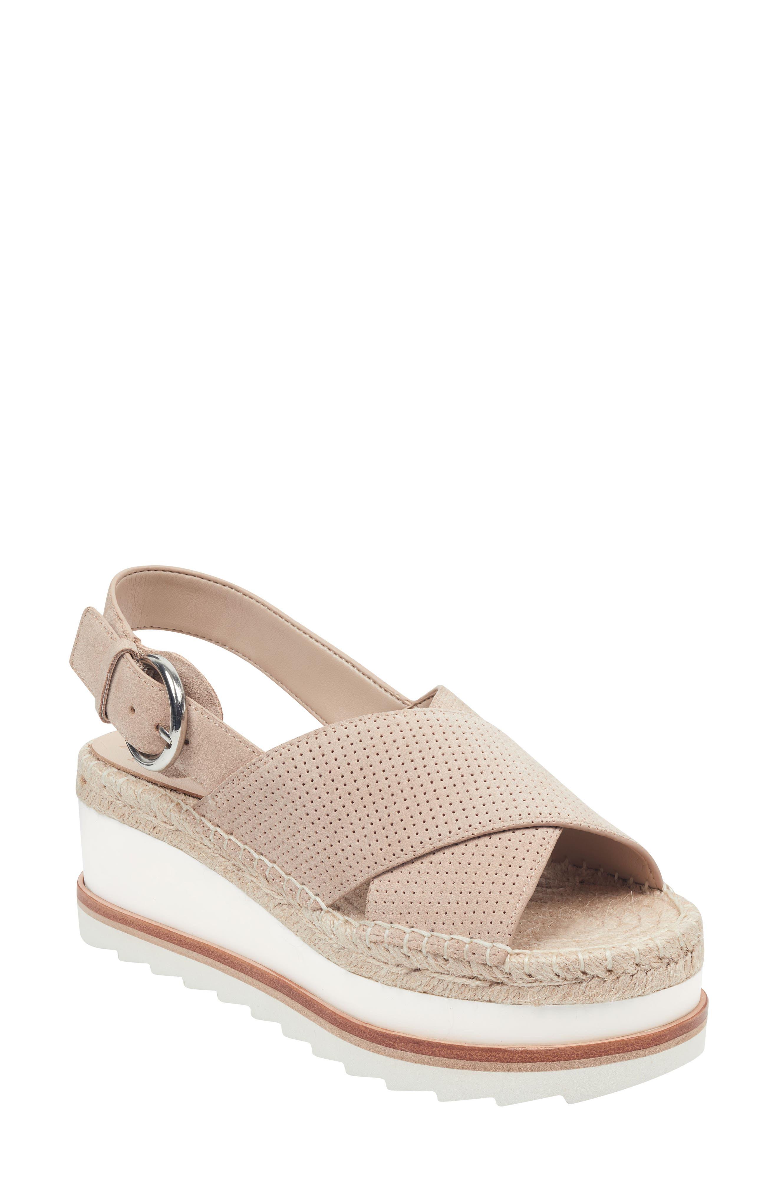 Gellyn Slingback Sandal, Main, color, LIGHT NATURAL SUEDE