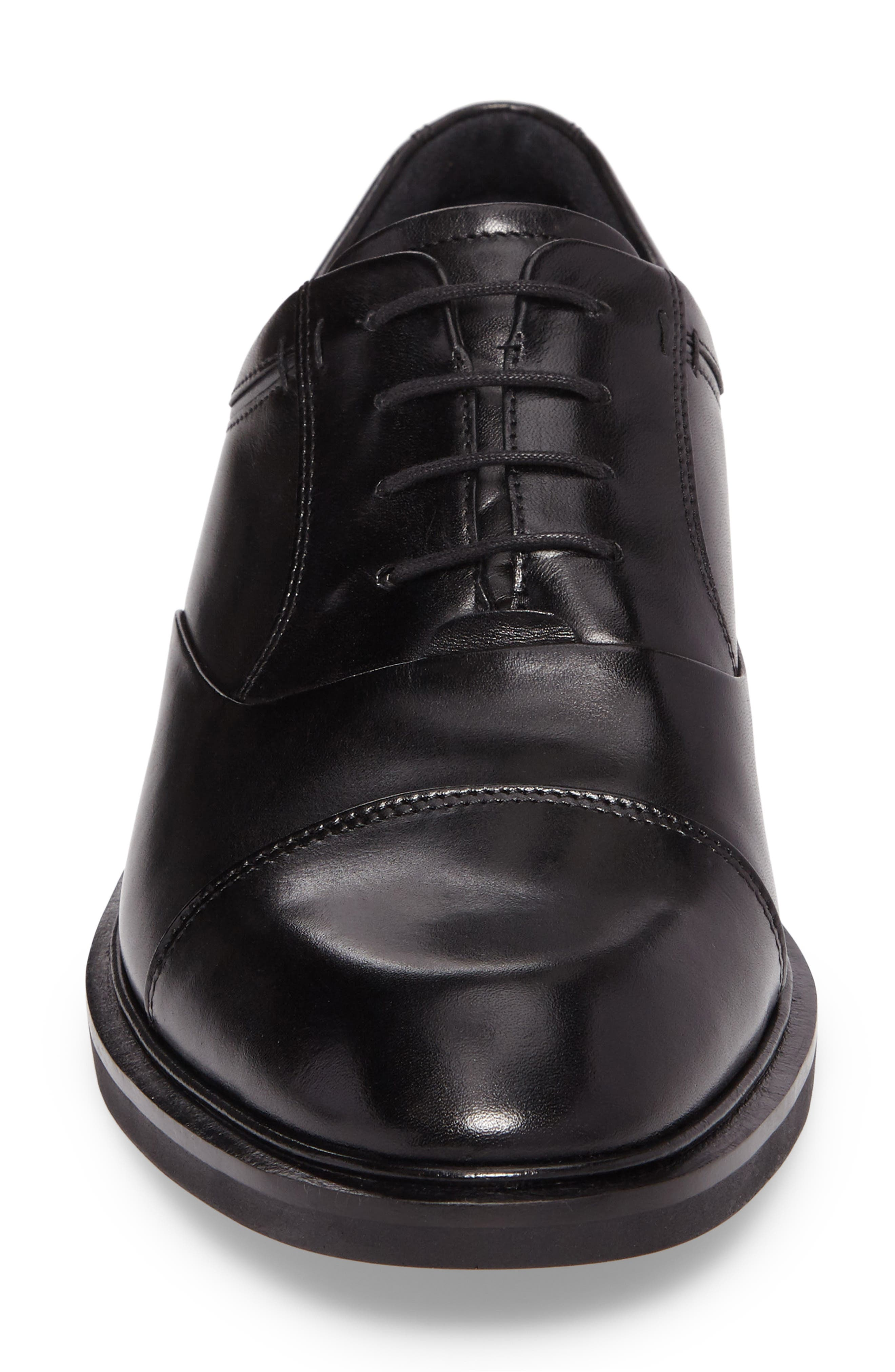 Vitrus II Cap Toe Oxford,                             Alternate thumbnail 4, color,                             BLACK LEATHER