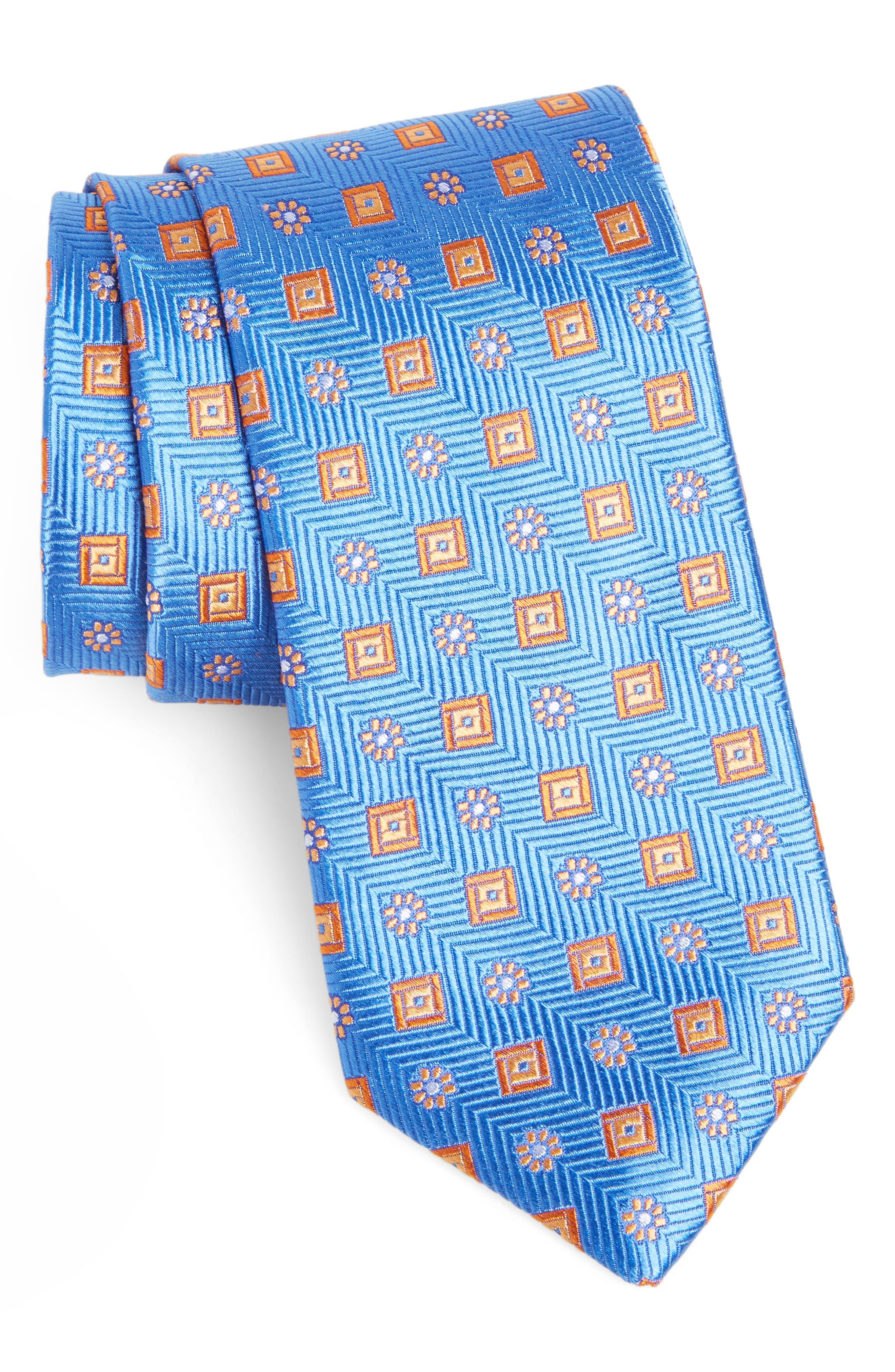 Medallion Silk Tie,                             Main thumbnail 1, color,                             411