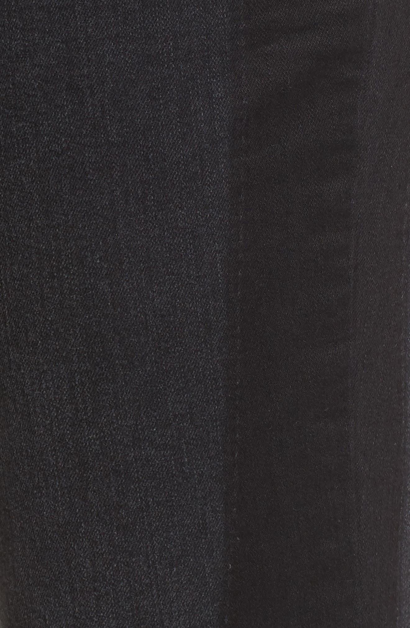 Tuxedo Stripe Skinny Jeans,                             Alternate thumbnail 5, color,                             020