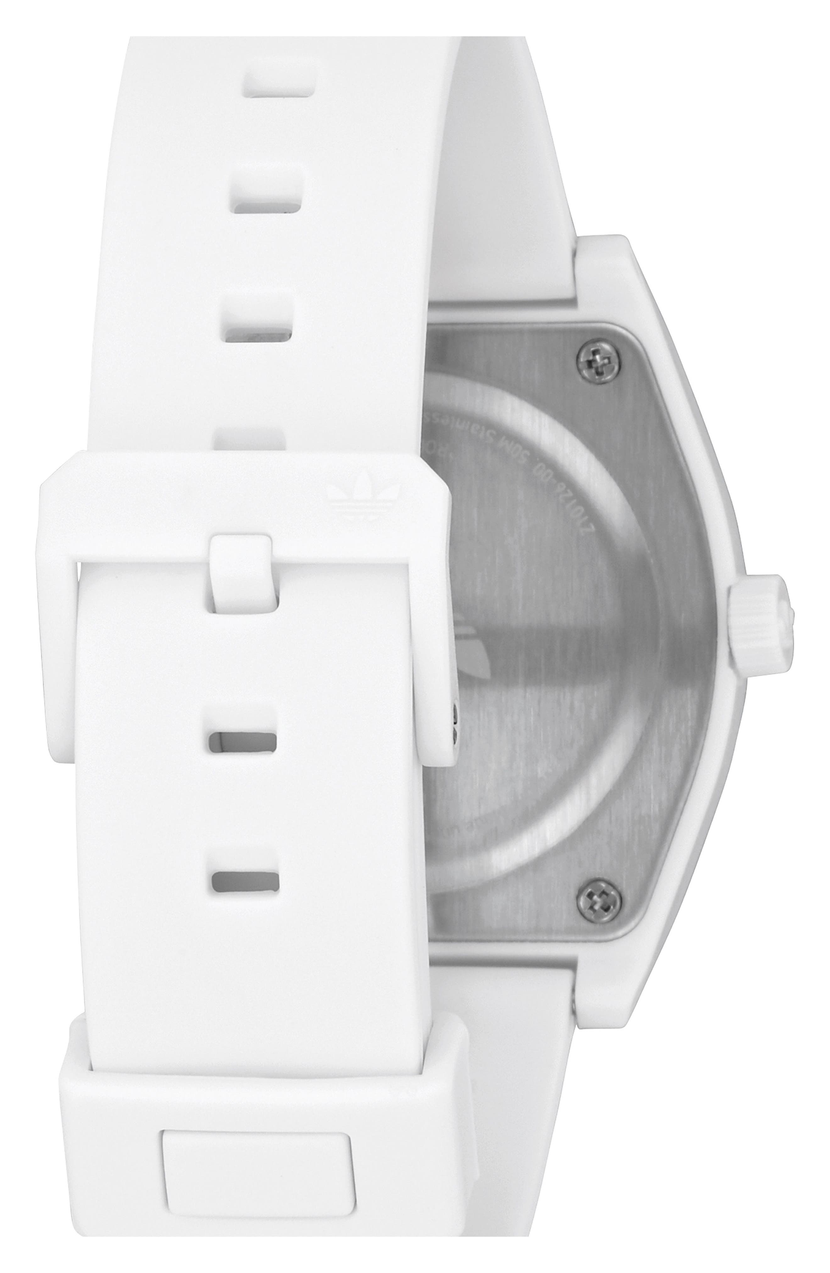 Process Silicone Strap Watch, 38mm,                             Alternate thumbnail 2, color,                             WHITE