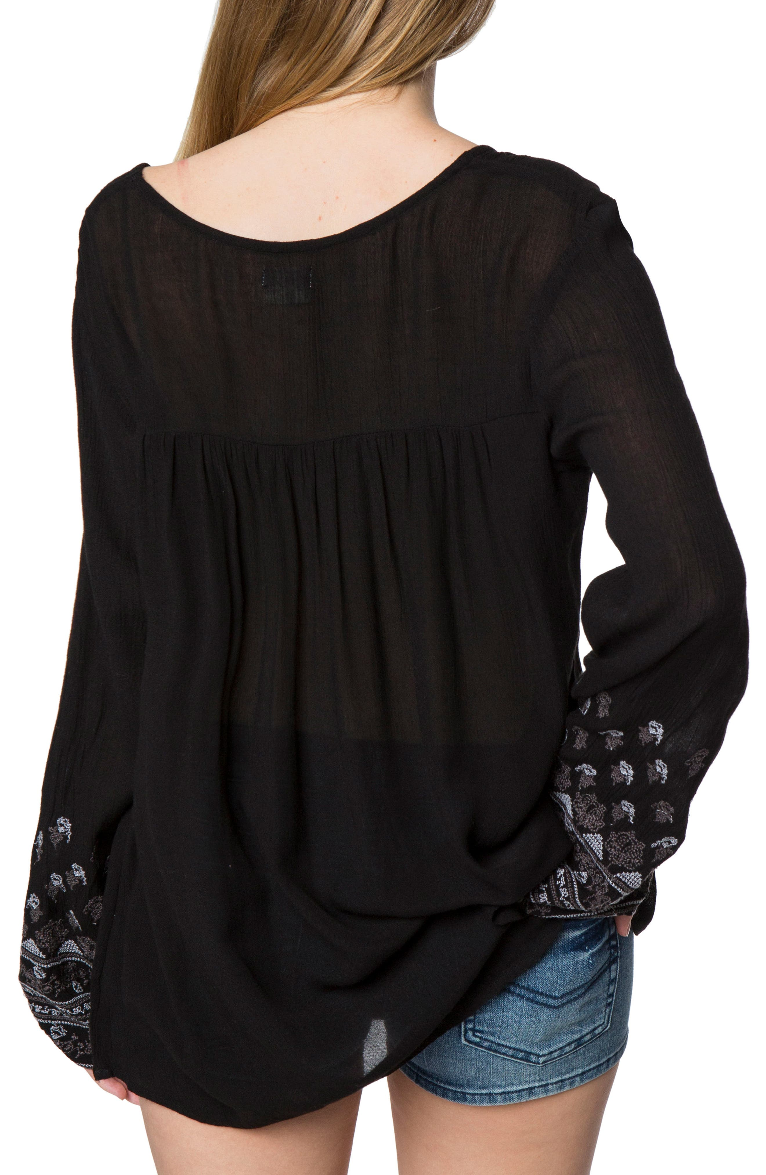 Mariana Embroidered Top,                             Alternate thumbnail 2, color,                             001