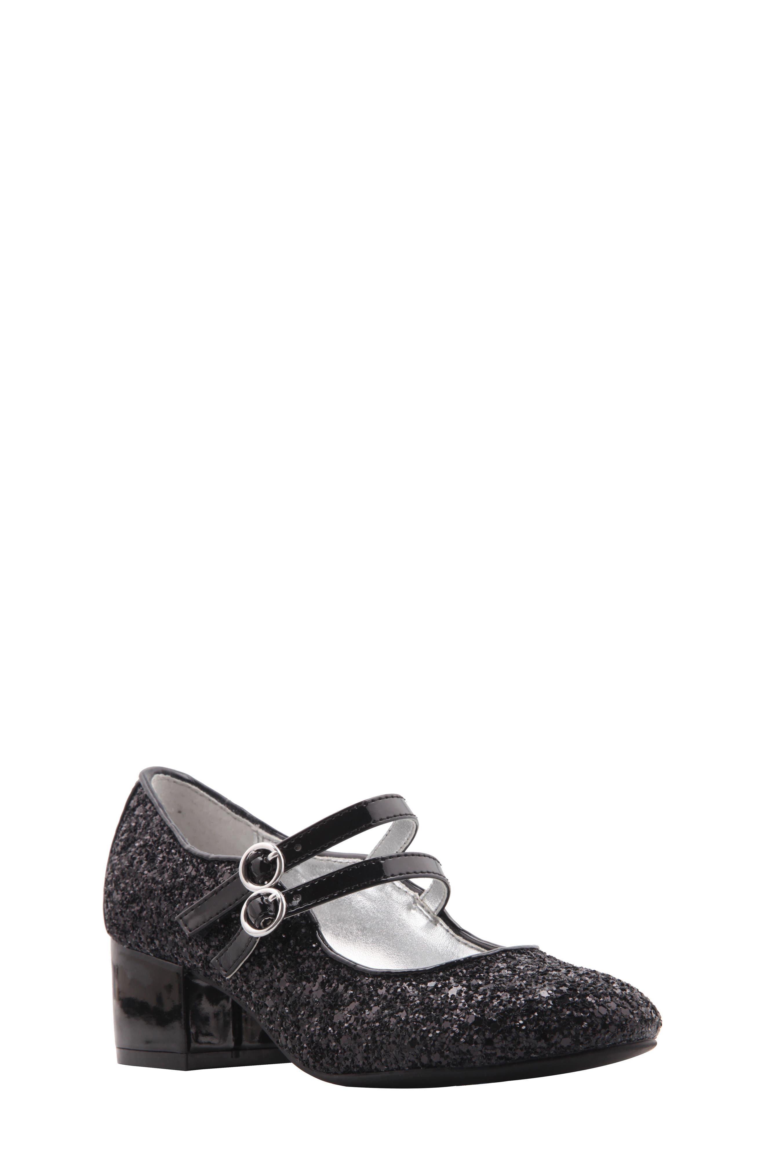 Sophie Glittery Double Strap Mary Jane,                             Main thumbnail 1, color,                             009