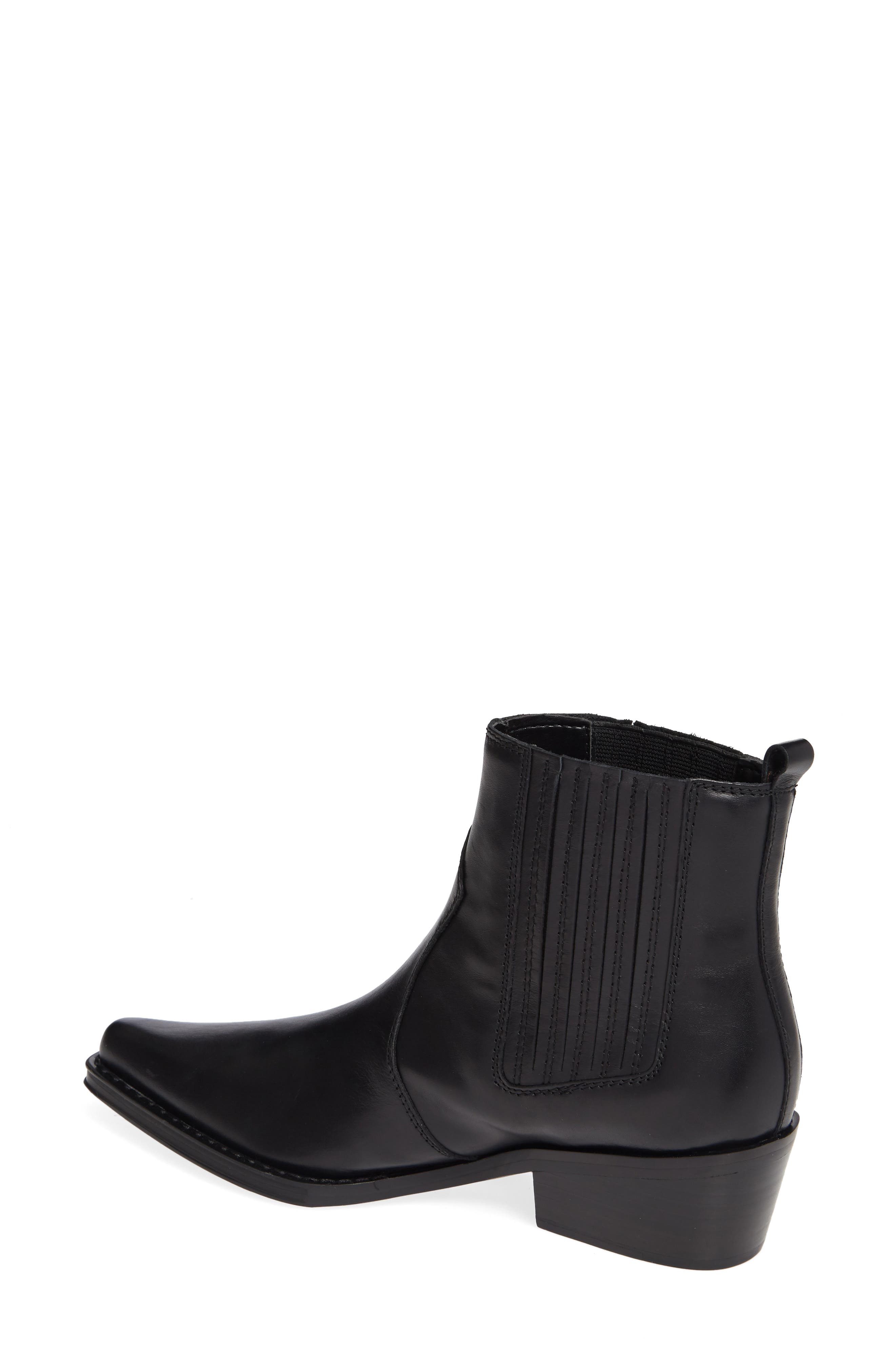 Barbara Bootie,                             Alternate thumbnail 2, color,                             BLACK LEATHER