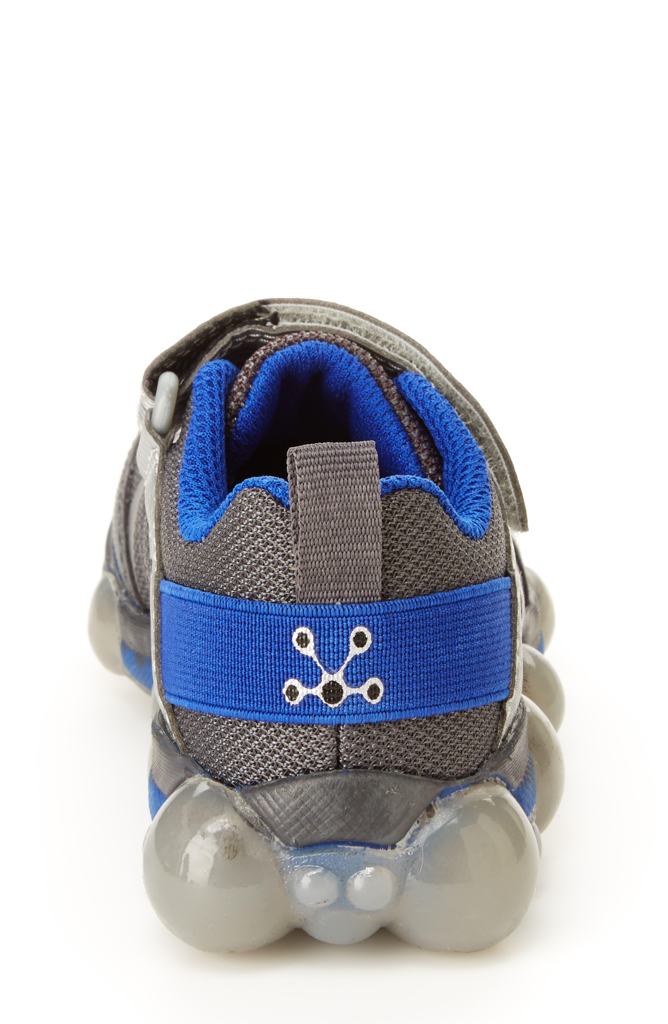 Leepz 3.0 Light-Up Sneaker,                             Alternate thumbnail 6, color,                             DARK GREY/ BLUE