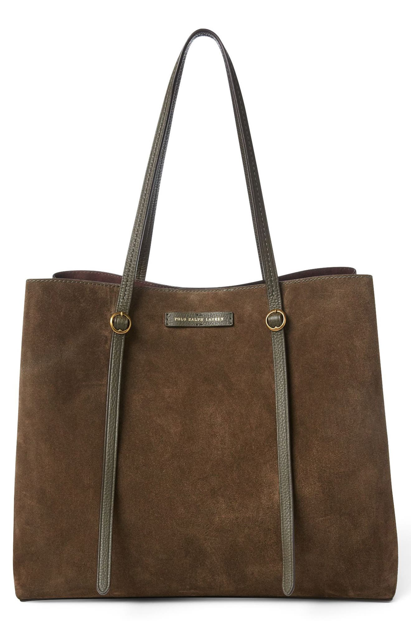 Lennox Suede Tote, Main, color, 301