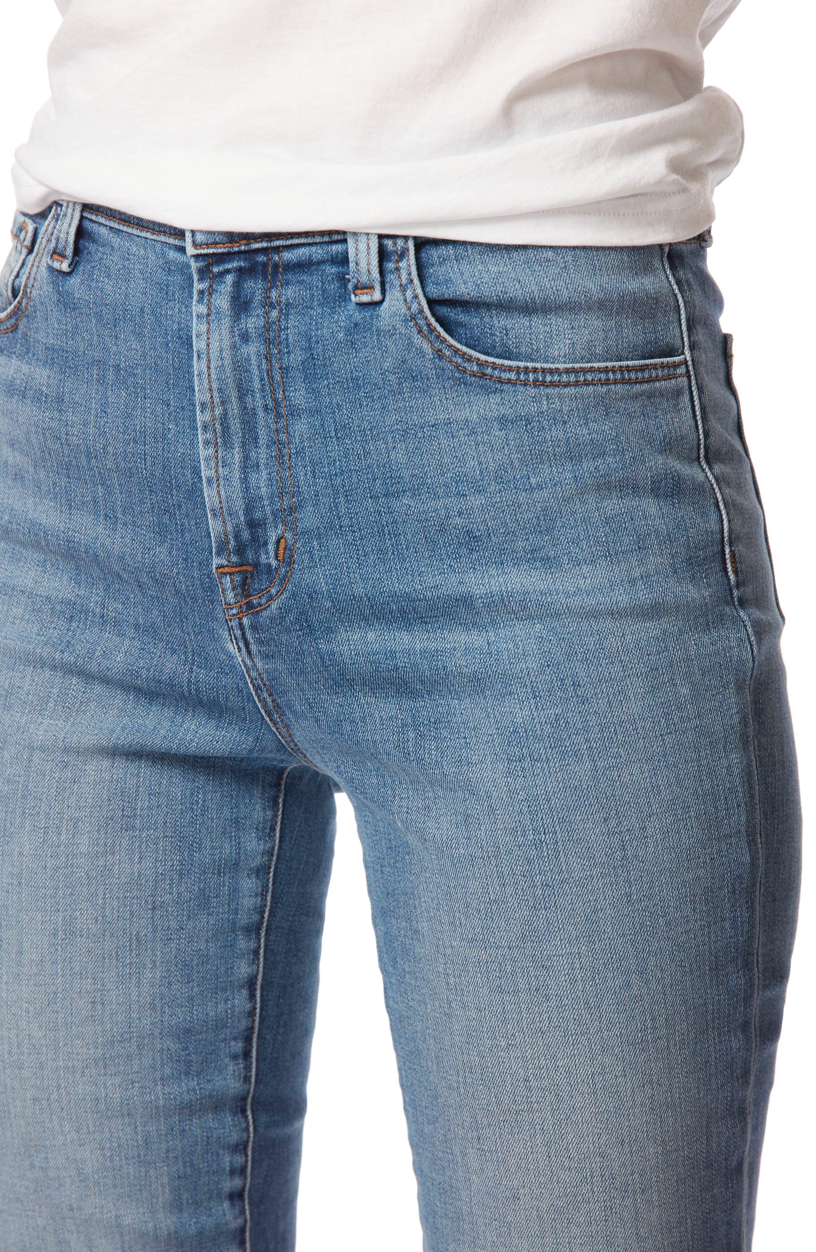 Carolina Super High Waist Skinny Jeans,                             Alternate thumbnail 4, color,                             400