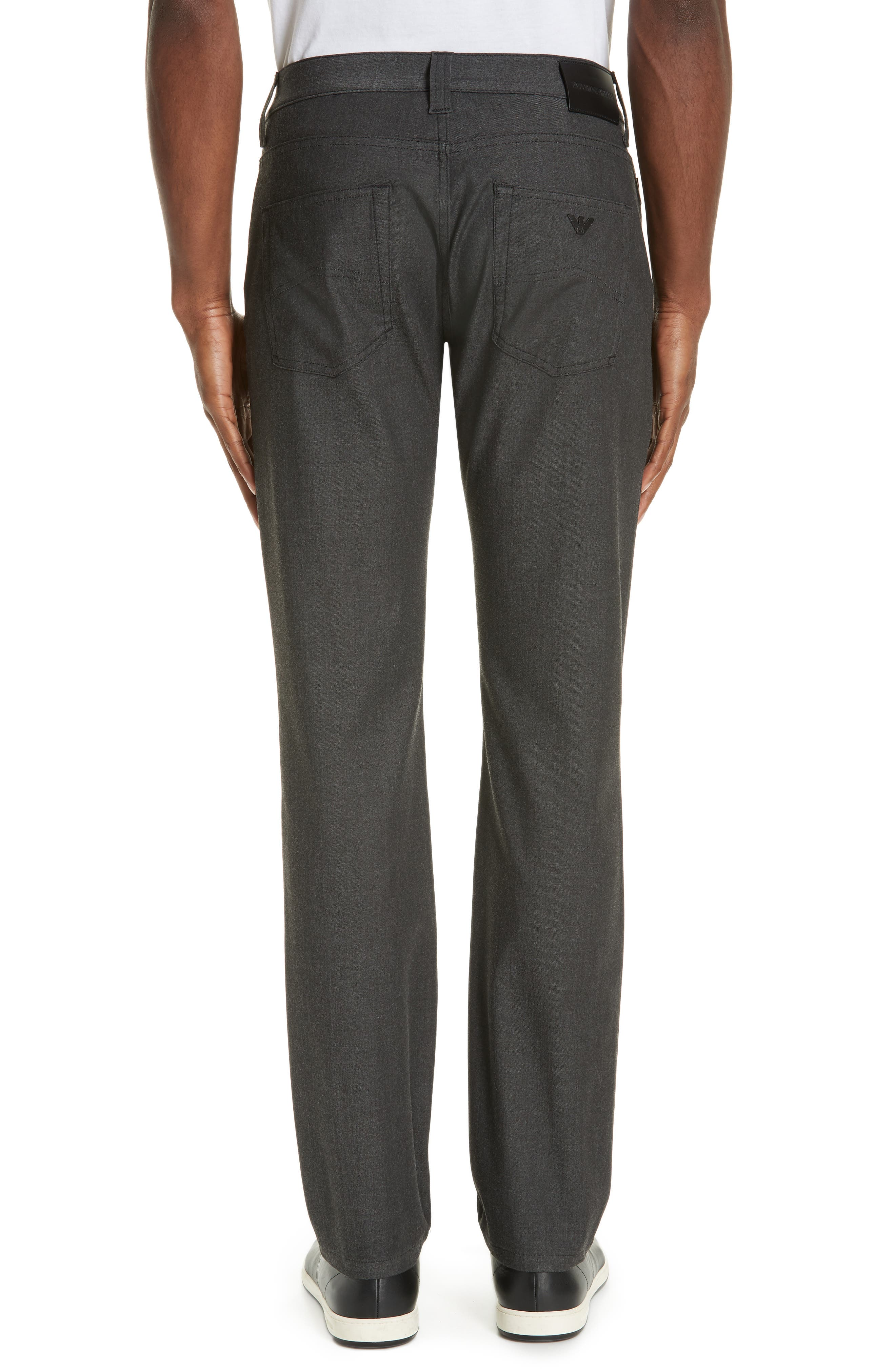 Flat Front Five Pocket Trousers,                             Alternate thumbnail 2, color,                             CHARCOAL