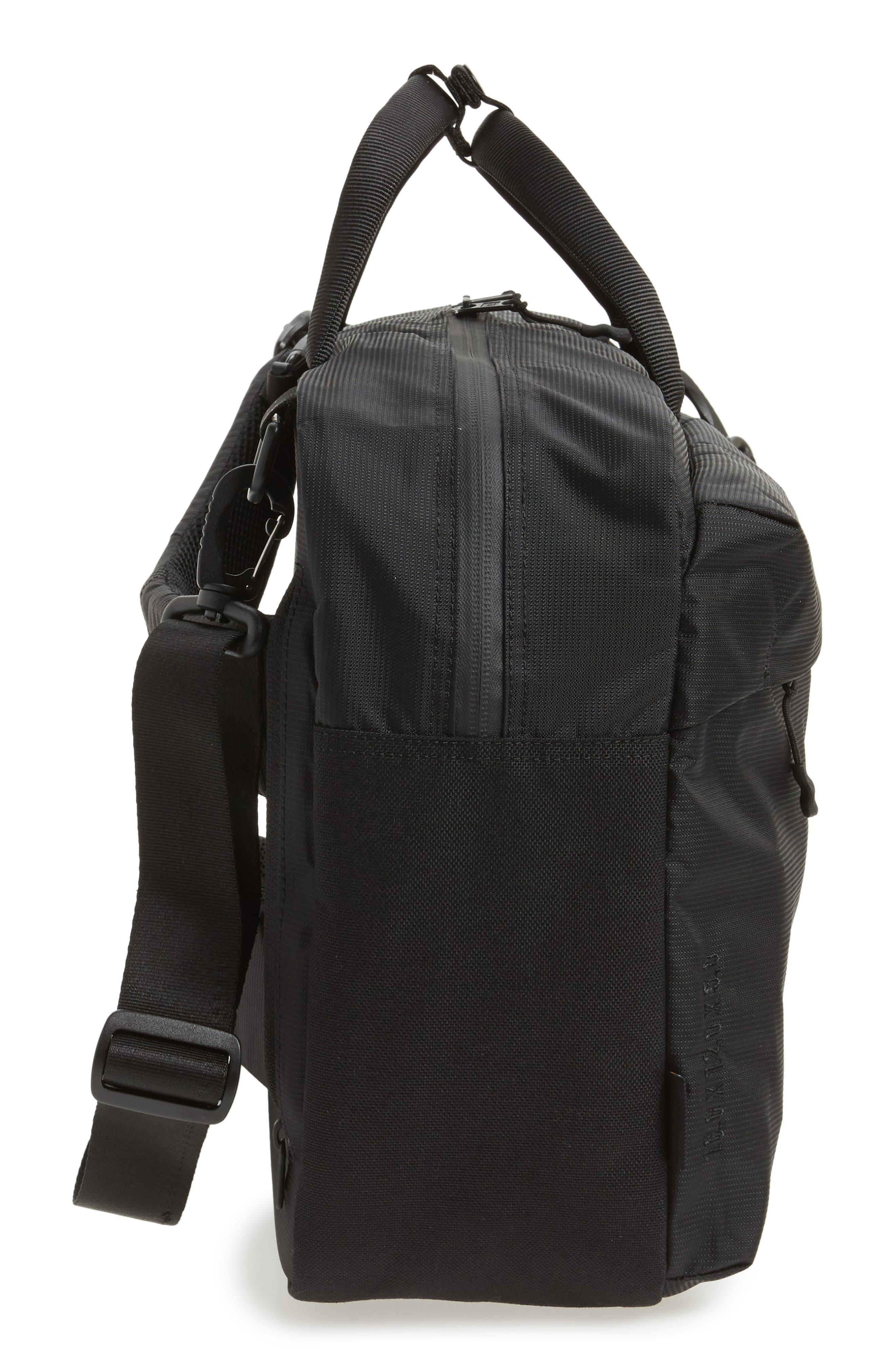 Britannia Convertible Messenger Bag,                             Alternate thumbnail 5, color,                             BLACK