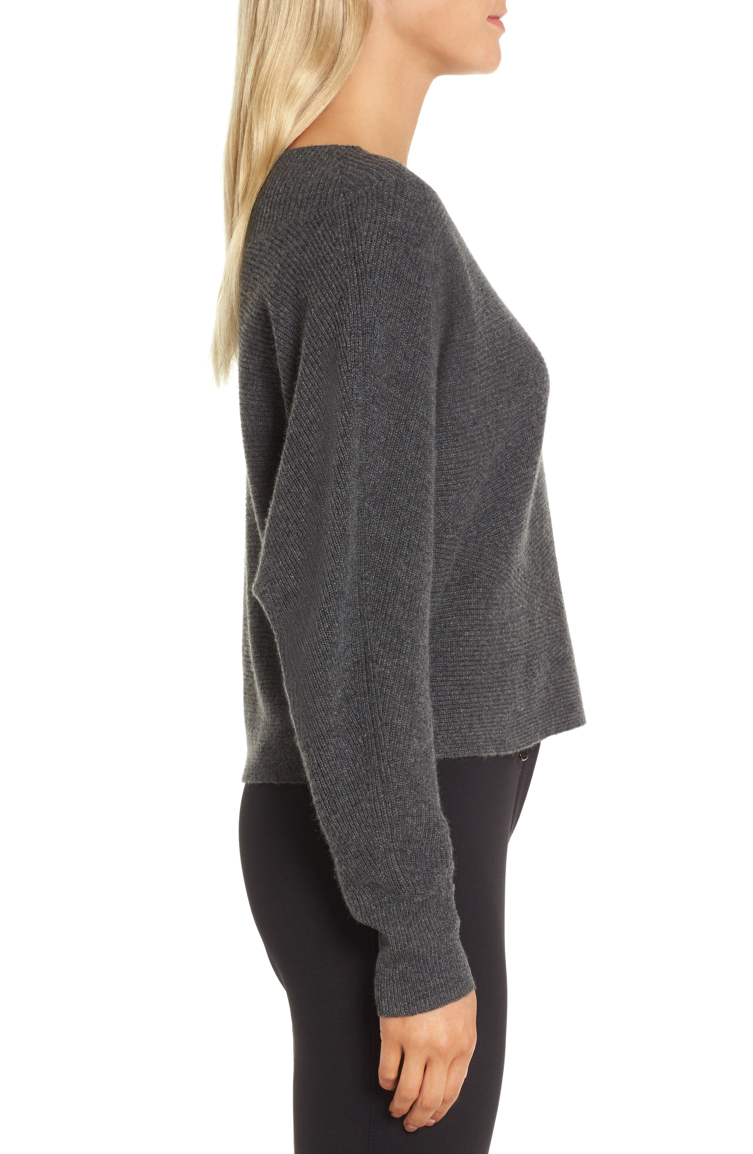 Dolman Sleeve Cashmere Sweater,                             Alternate thumbnail 3, color,                             030
