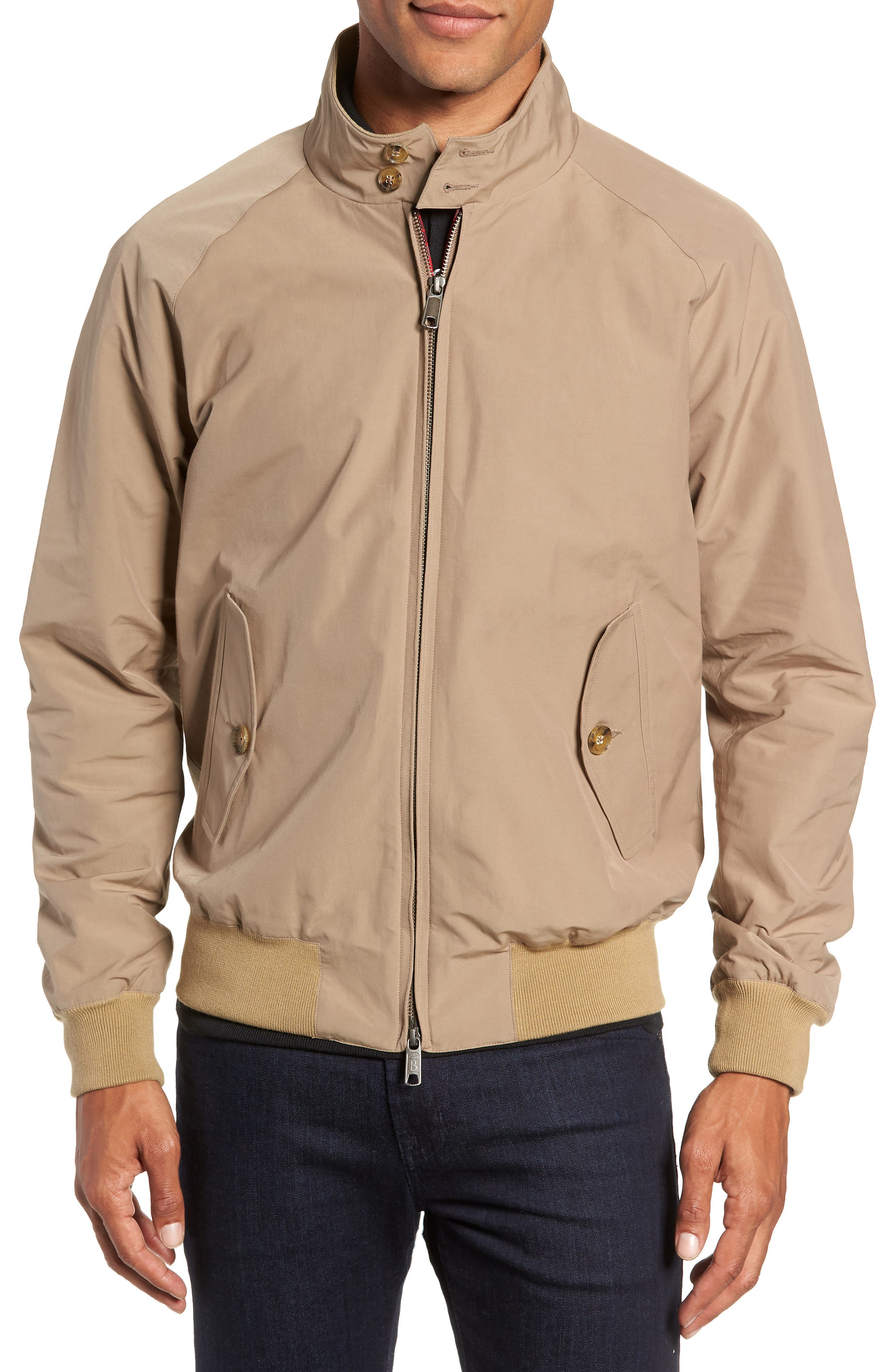 G9 Water Repellent Harrington Jacket,                             Alternate thumbnail 4, color,                             TAN