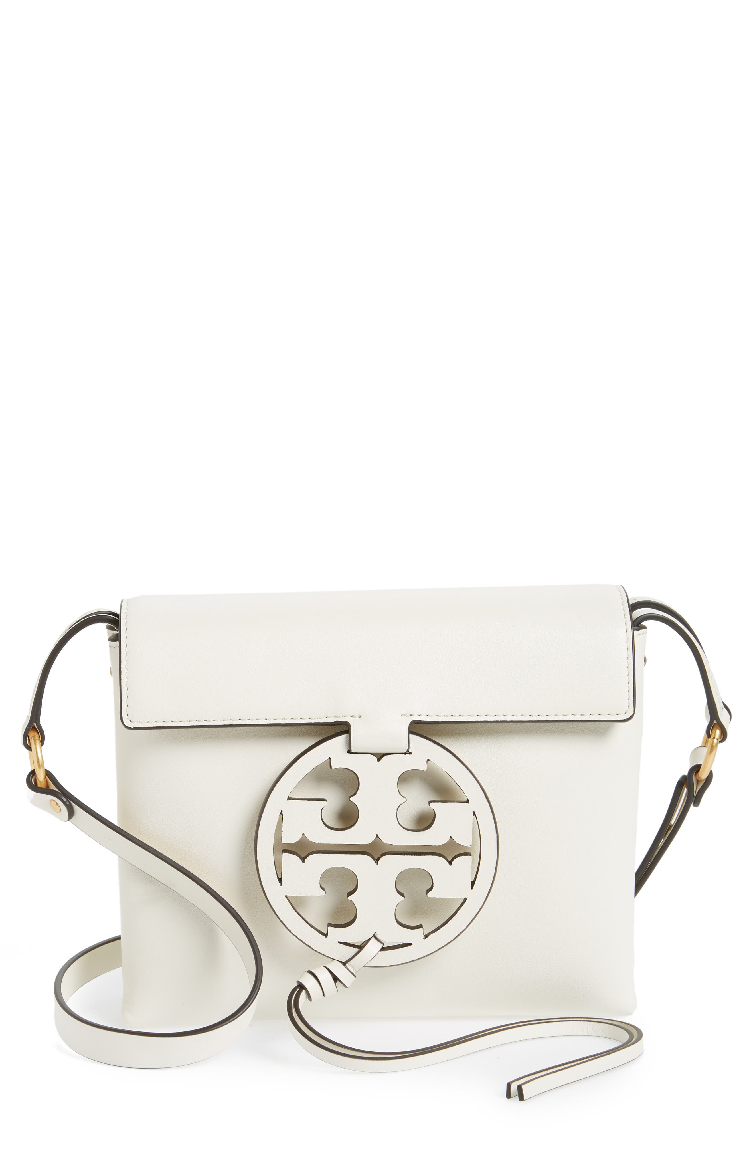 TORY BURCH Miller Leather Crossbody Bag, Main, color, 107