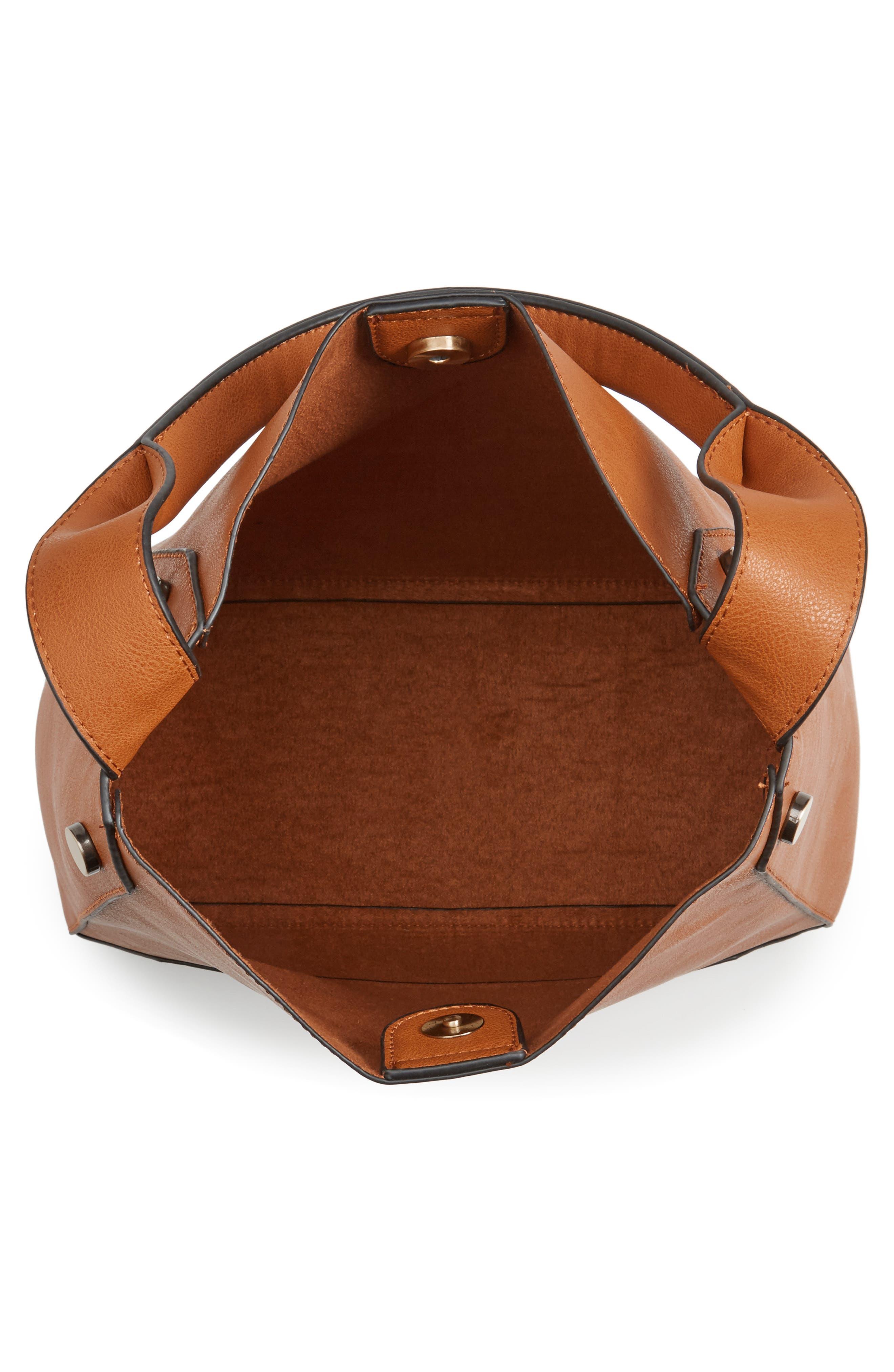 Alani Faux Leather Shoulder Bag,                             Alternate thumbnail 8, color,