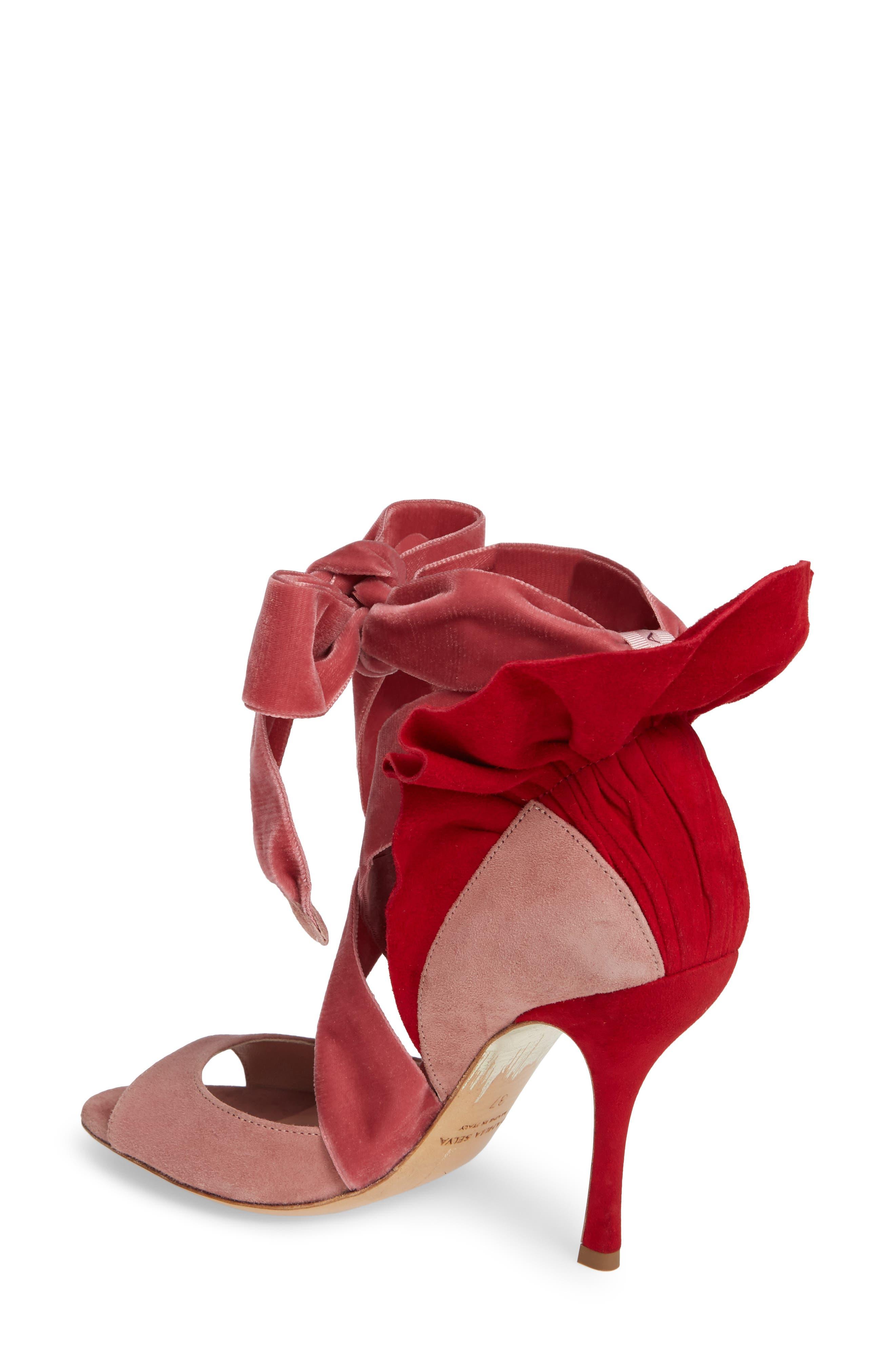 Frills For All Sandal,                             Alternate thumbnail 2, color,                             ROSE/ RED