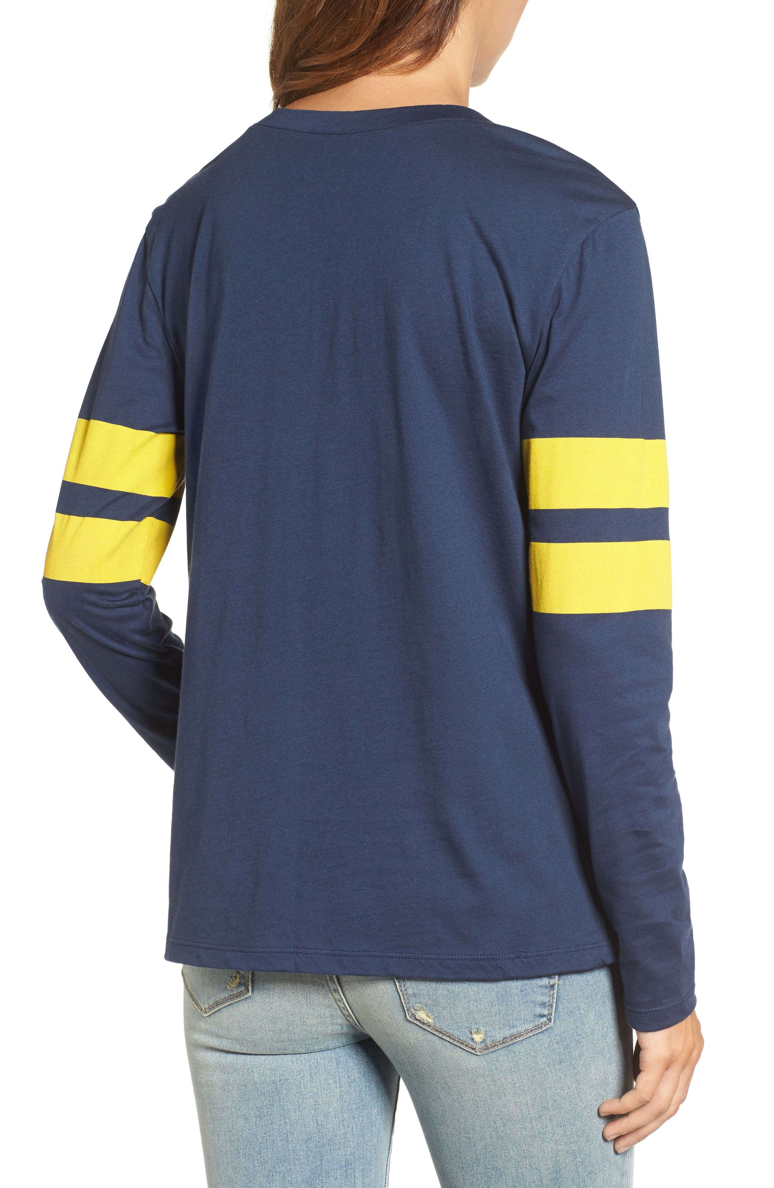 Varsity Stripe Cotton Tee,                             Alternate thumbnail 61, color,