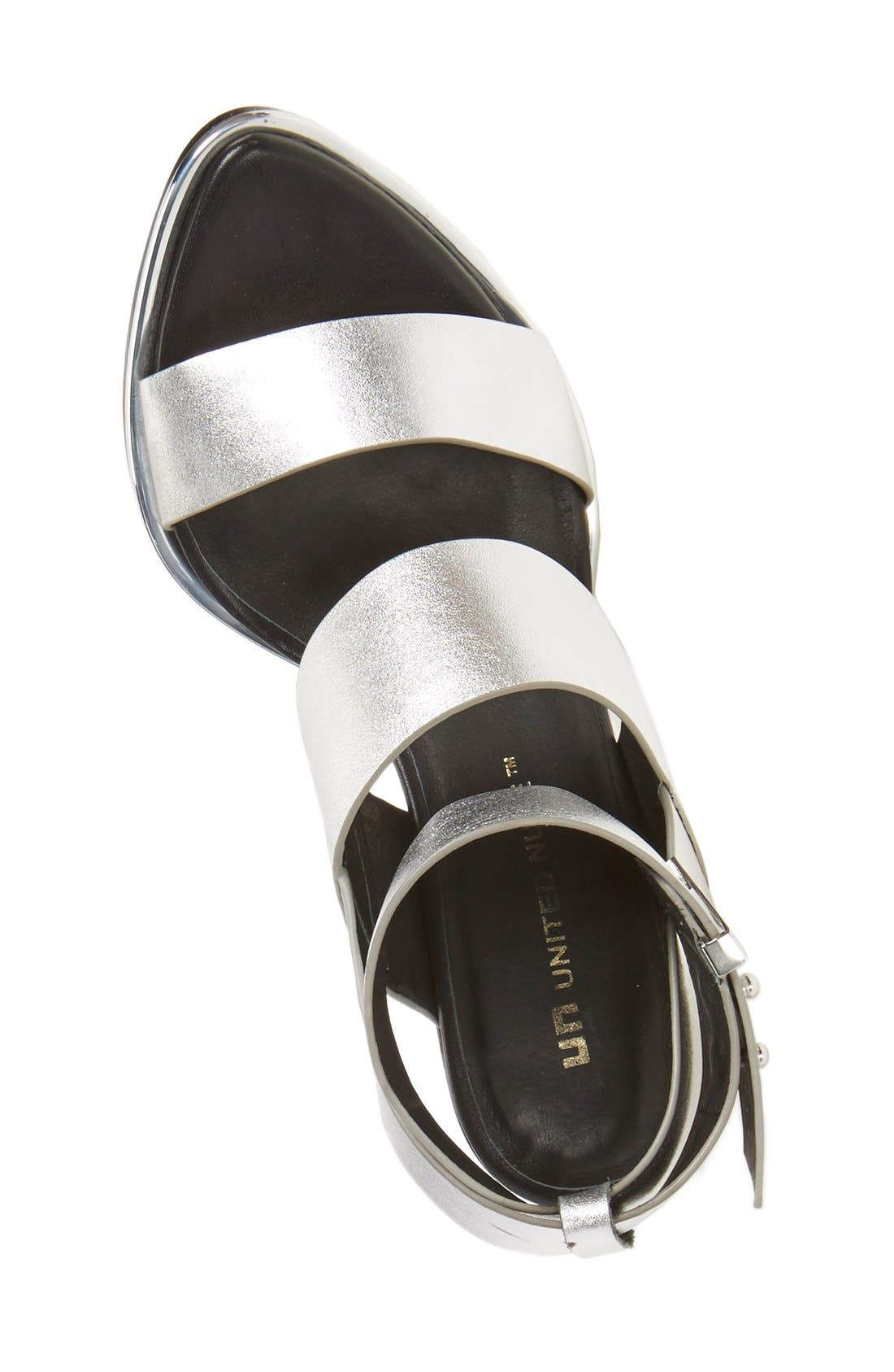 UNITED NUDE COLLECTION,                             'Leona Hi' Ankle Strap Sandal,                             Alternate thumbnail 4, color,                             040