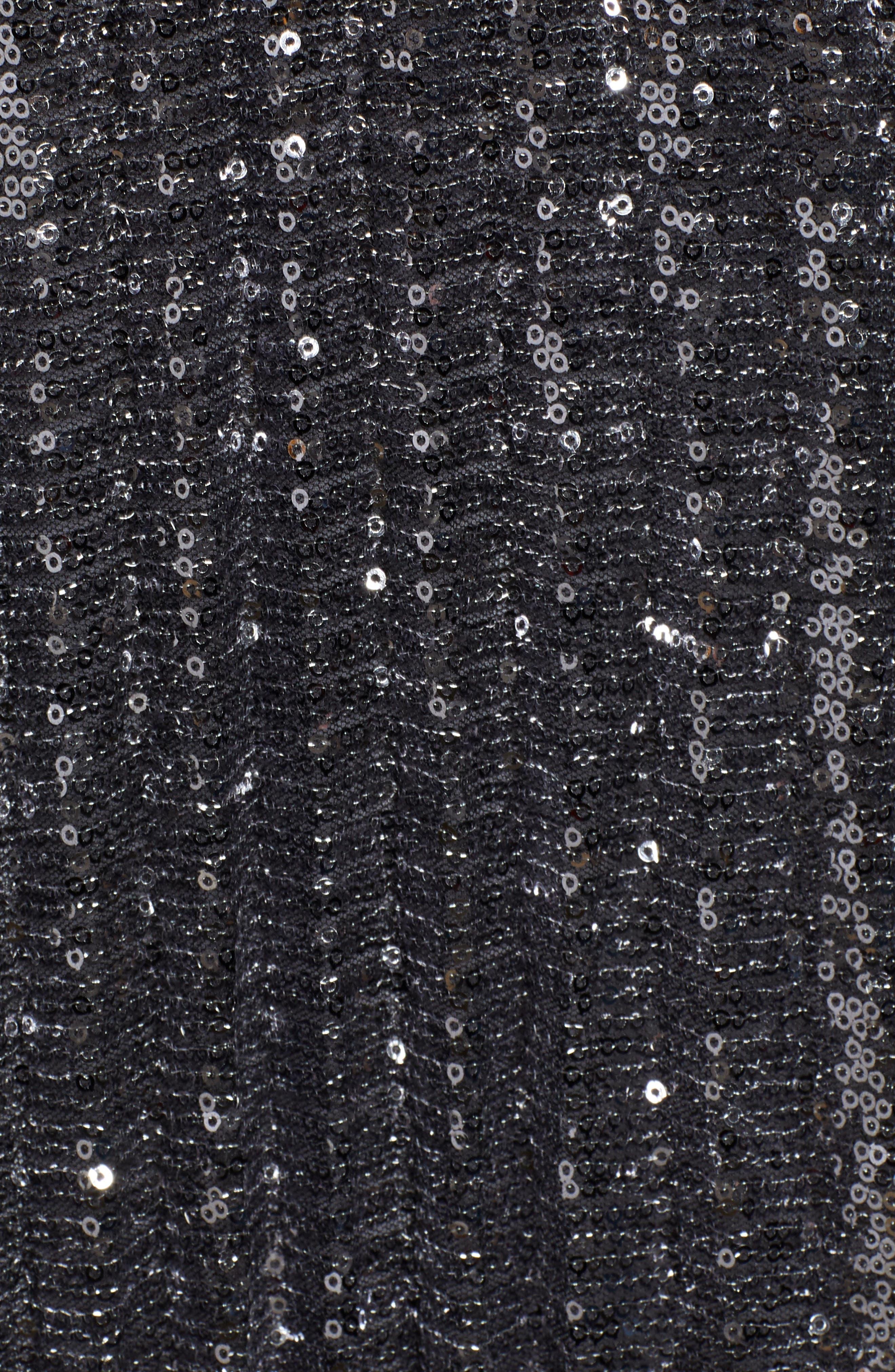 CHELSEA28,                             Sequin Skirt,                             Alternate thumbnail 5, color,                             SILVER
