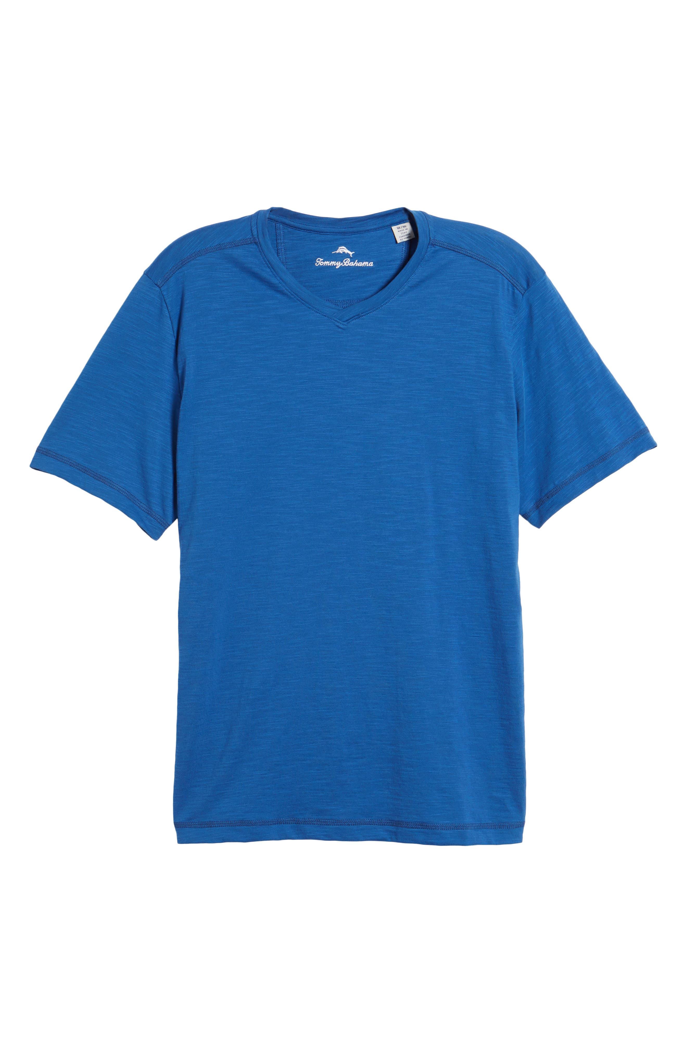 Portside Palms V-Neck T-Shirt,                             Alternate thumbnail 52, color,