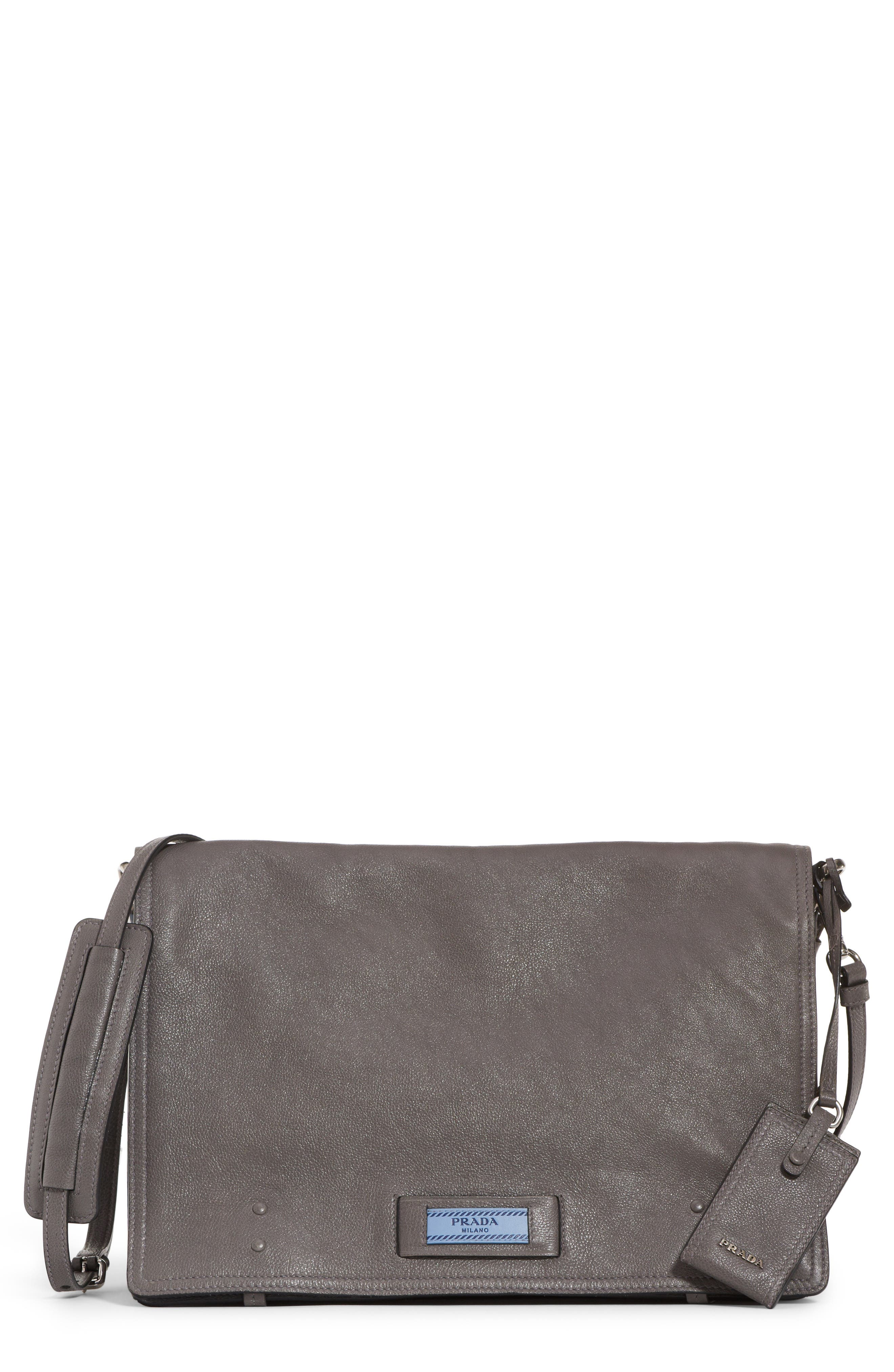 Large Etiquette Patch Leather Bag,                         Main,                         color, MARMO/ ASTRALE