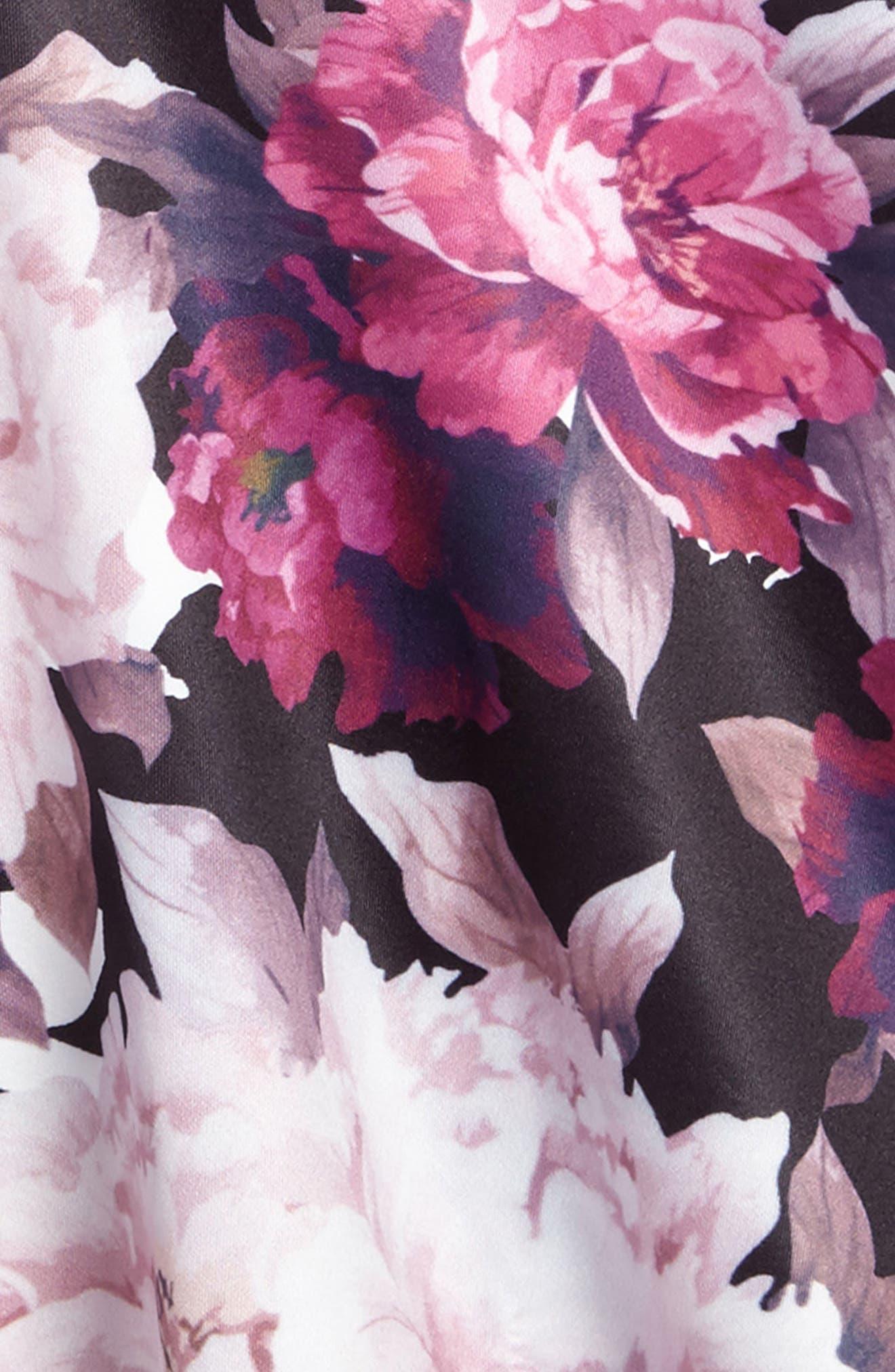Floral Print Dress,                             Alternate thumbnail 3, color,                             101
