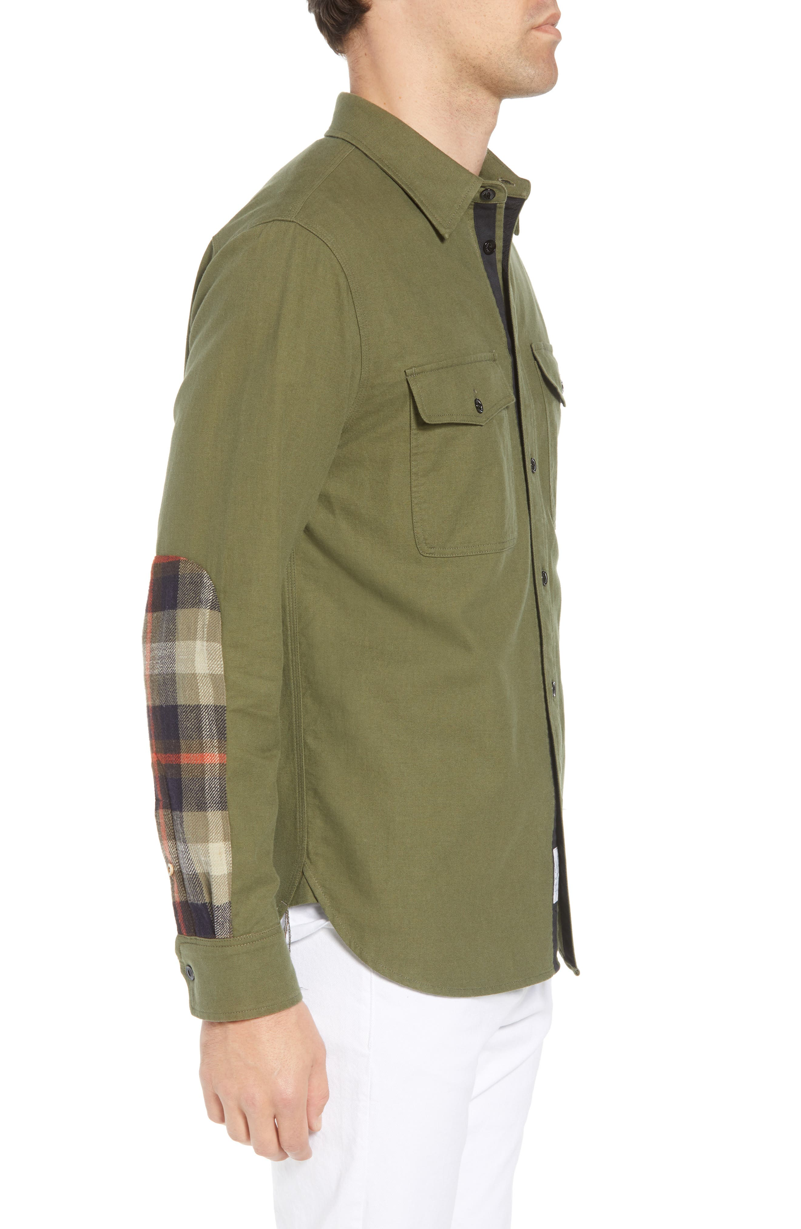 rag + bone Jack Slim Fit Plaid Sport Shirt,                             Alternate thumbnail 3, color,                             315