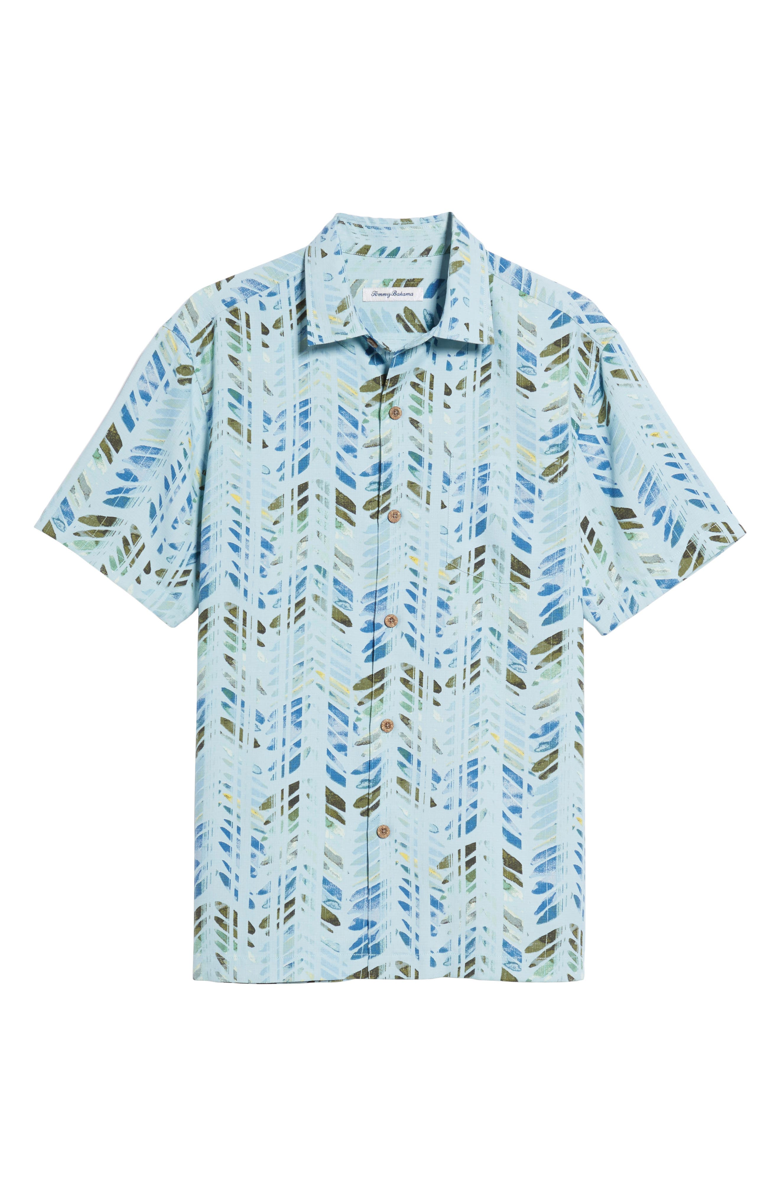 Right on Tide Silk Blend Camp Shirt,                             Alternate thumbnail 6, color,                             400
