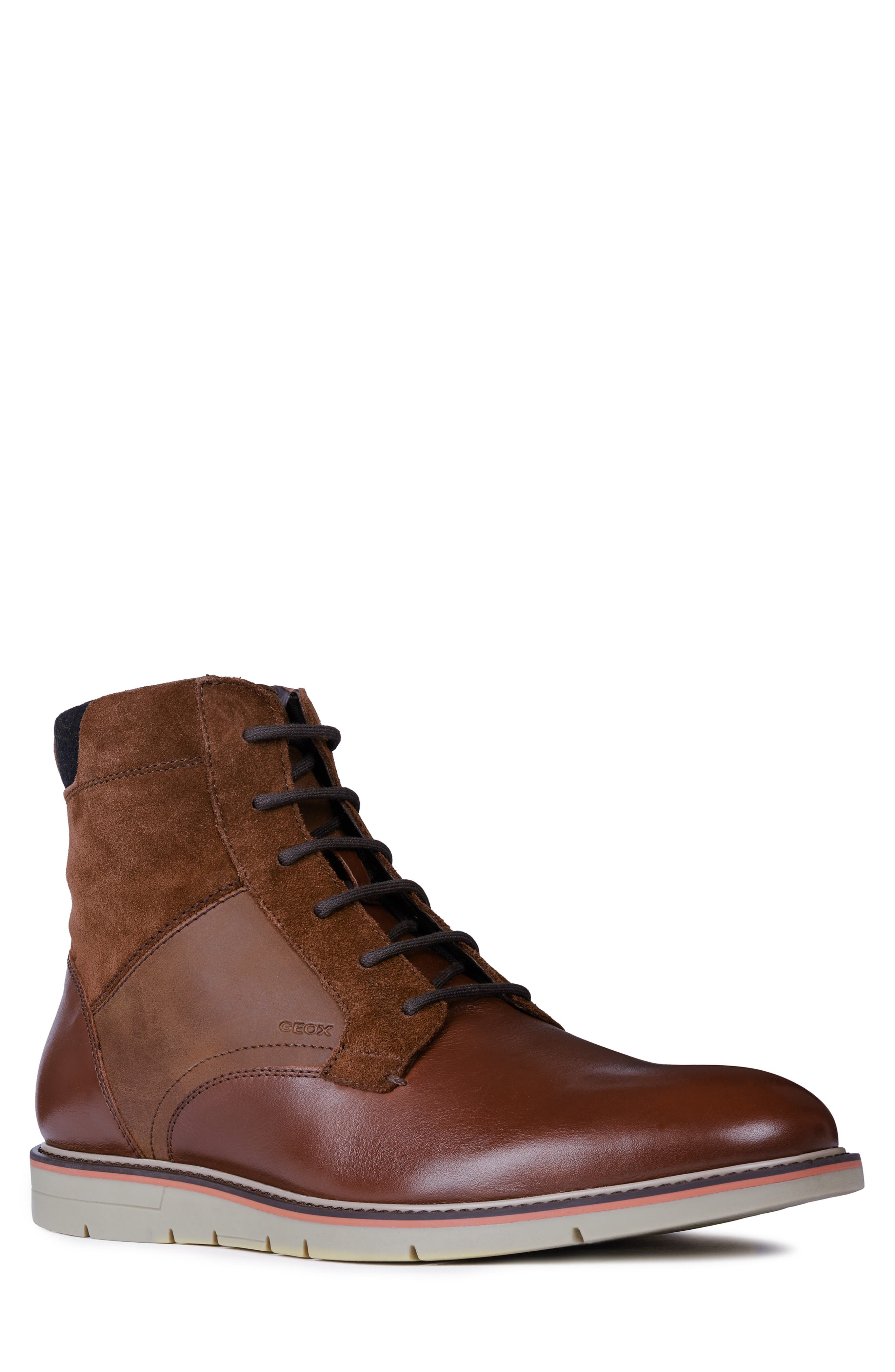 Geox Uvet Lace-Up Boot, Brown