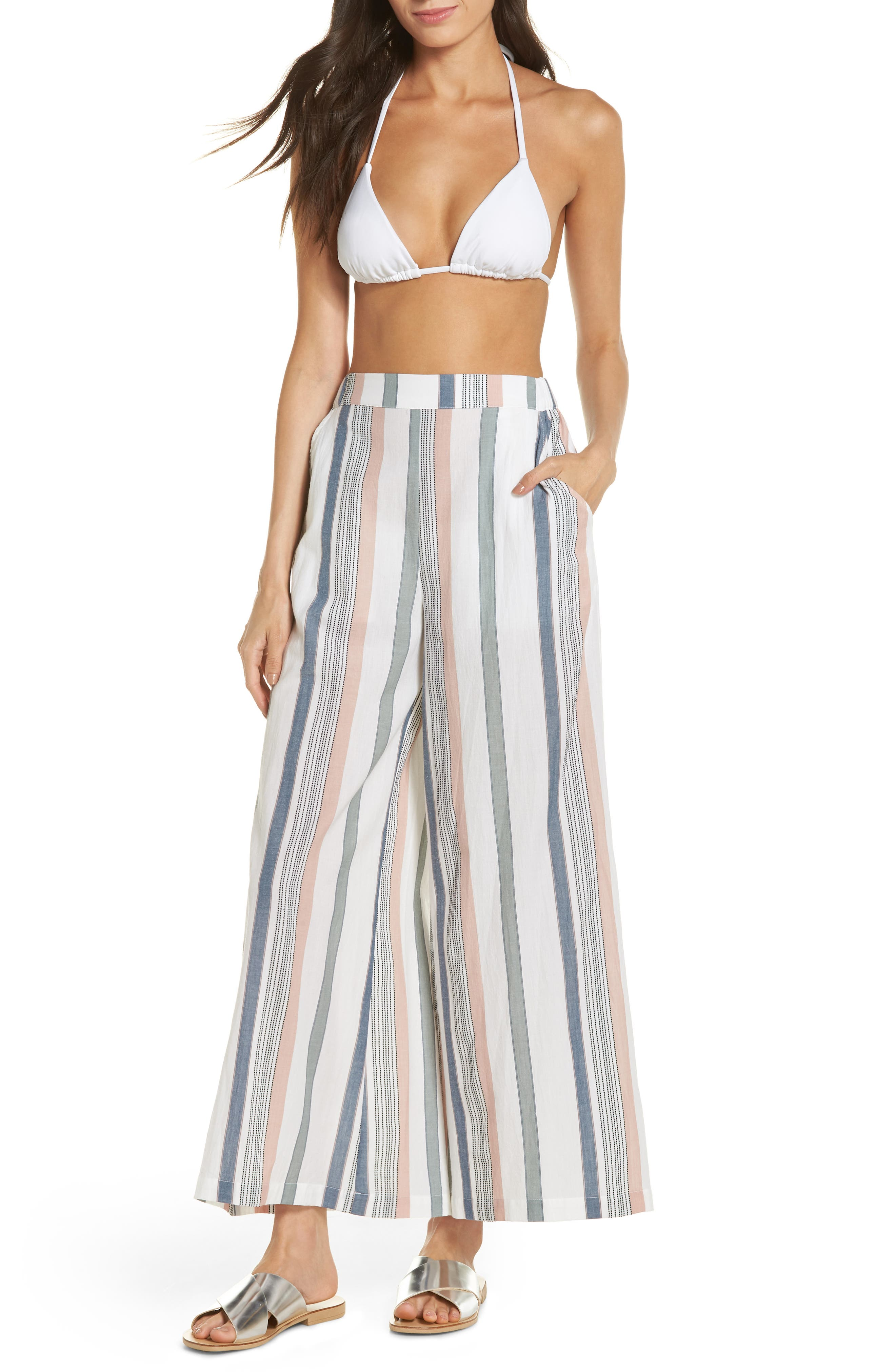 Hannah Cover-Up Pants,                         Main,                         color, MEADOW GREEN STRIPE