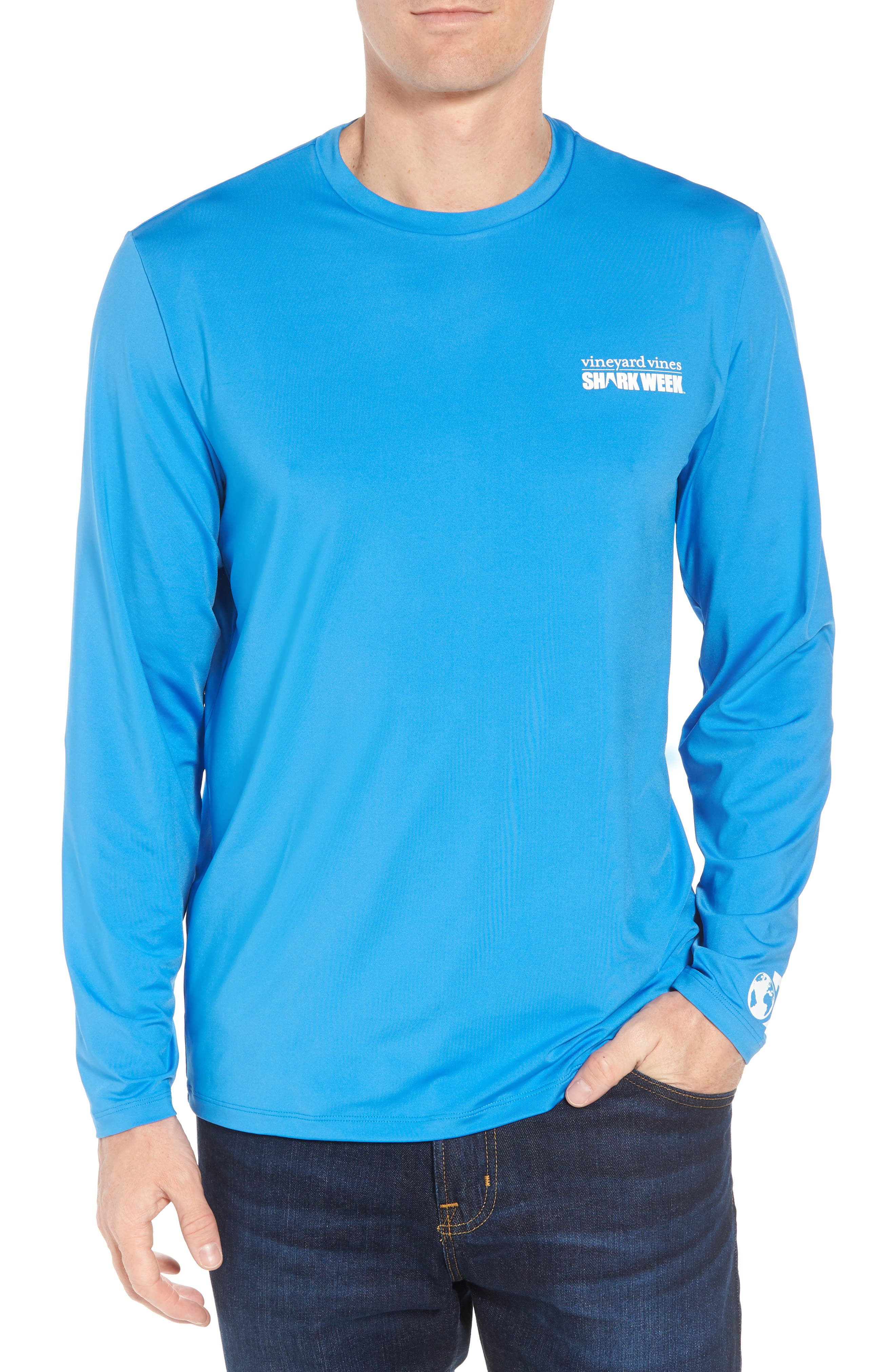 x Shark Week<sup>™</sup> Logo Long Sleeve T-Shirt,                             Main thumbnail 1, color,