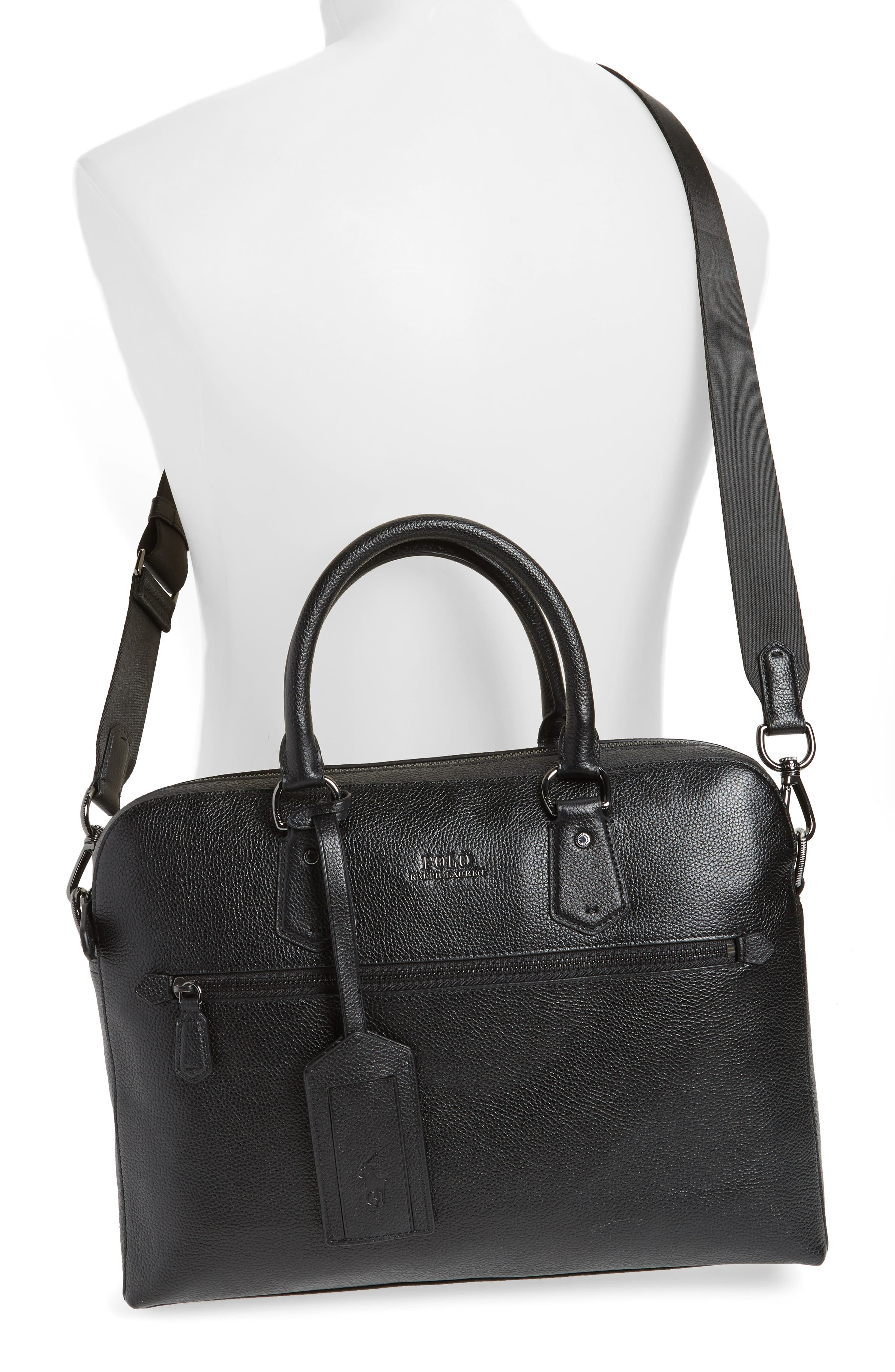 Commuter Leather Briefcase,                             Alternate thumbnail 2, color,