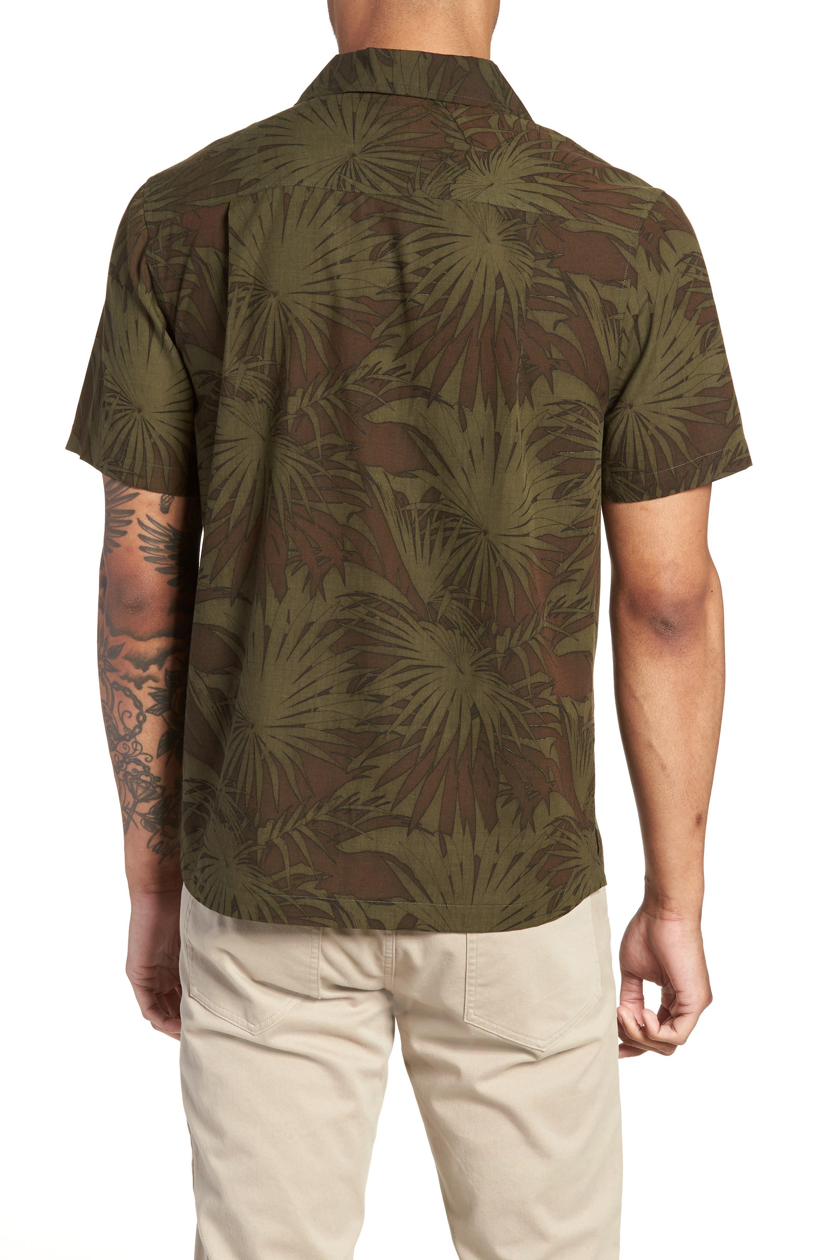 Palm Leaf Cabana Woven Shirt,                             Alternate thumbnail 2, color,                             FOLIAGE/ DRIED HERB