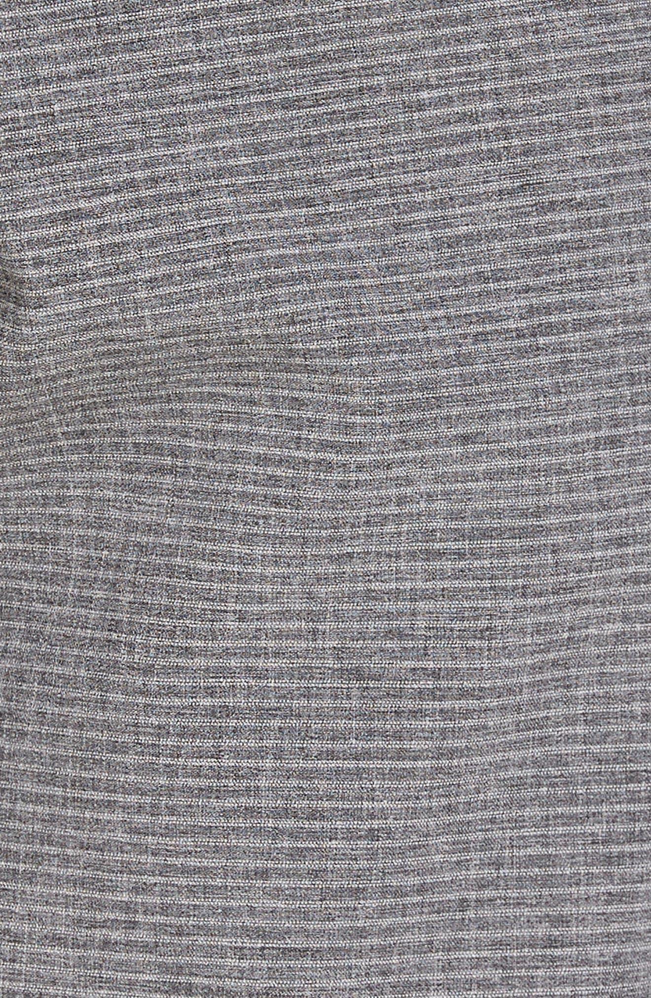 Locked Stripe Hybrid Shorts,                             Alternate thumbnail 5, color,                             001
