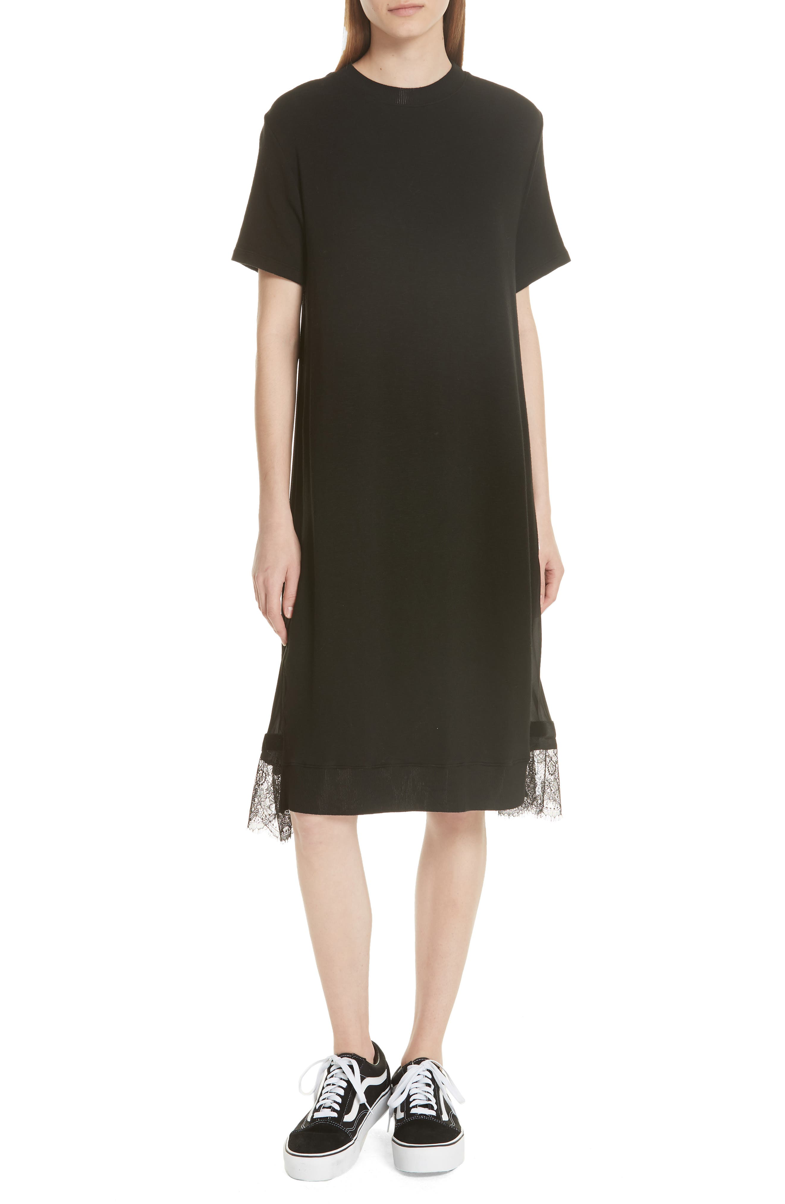 Pleat Back Midi Dress,                         Main,                         color, 001