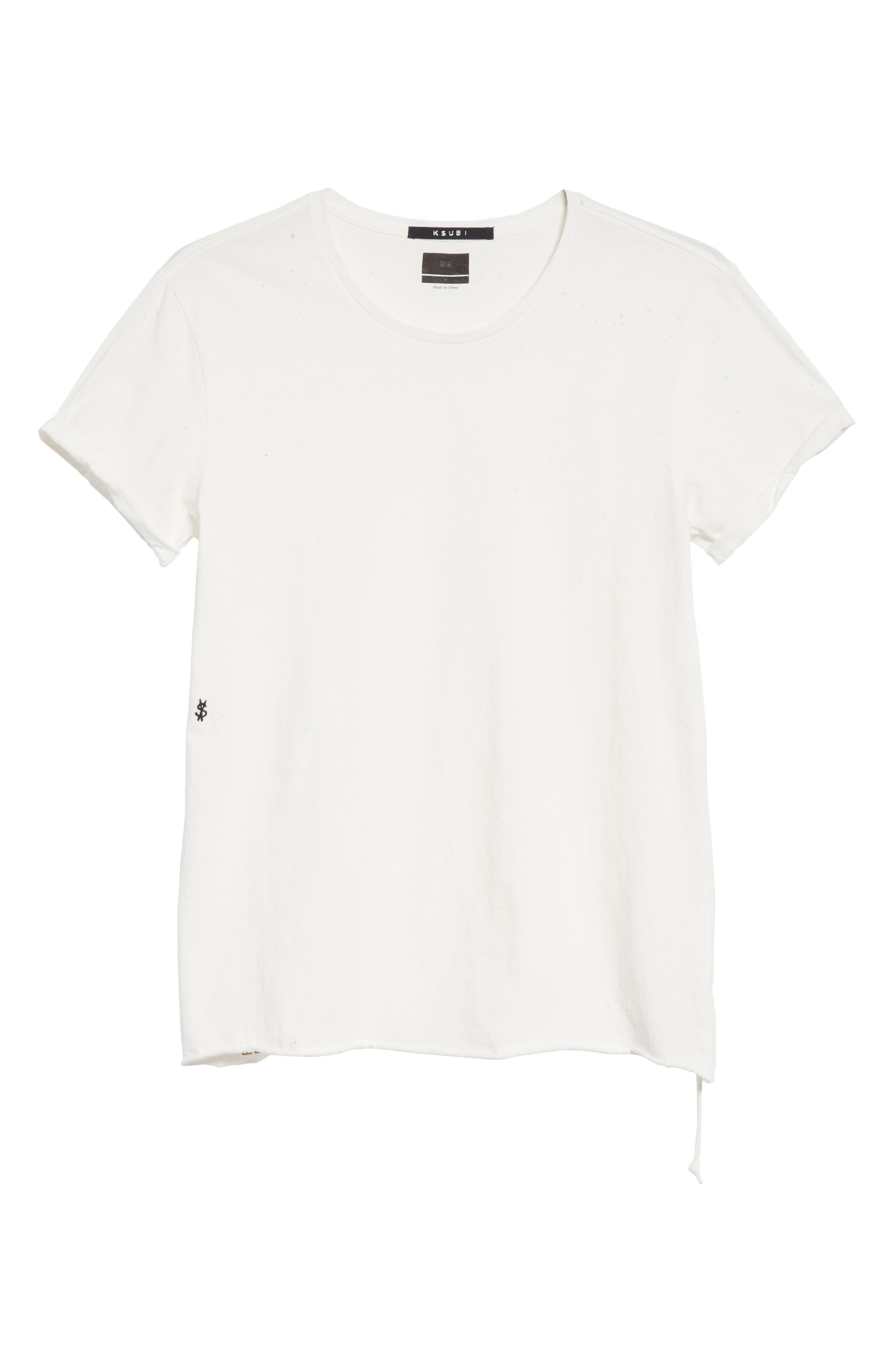 Kodeine Crewneck T-Shirt,                             Alternate thumbnail 6, color,                             WHITE