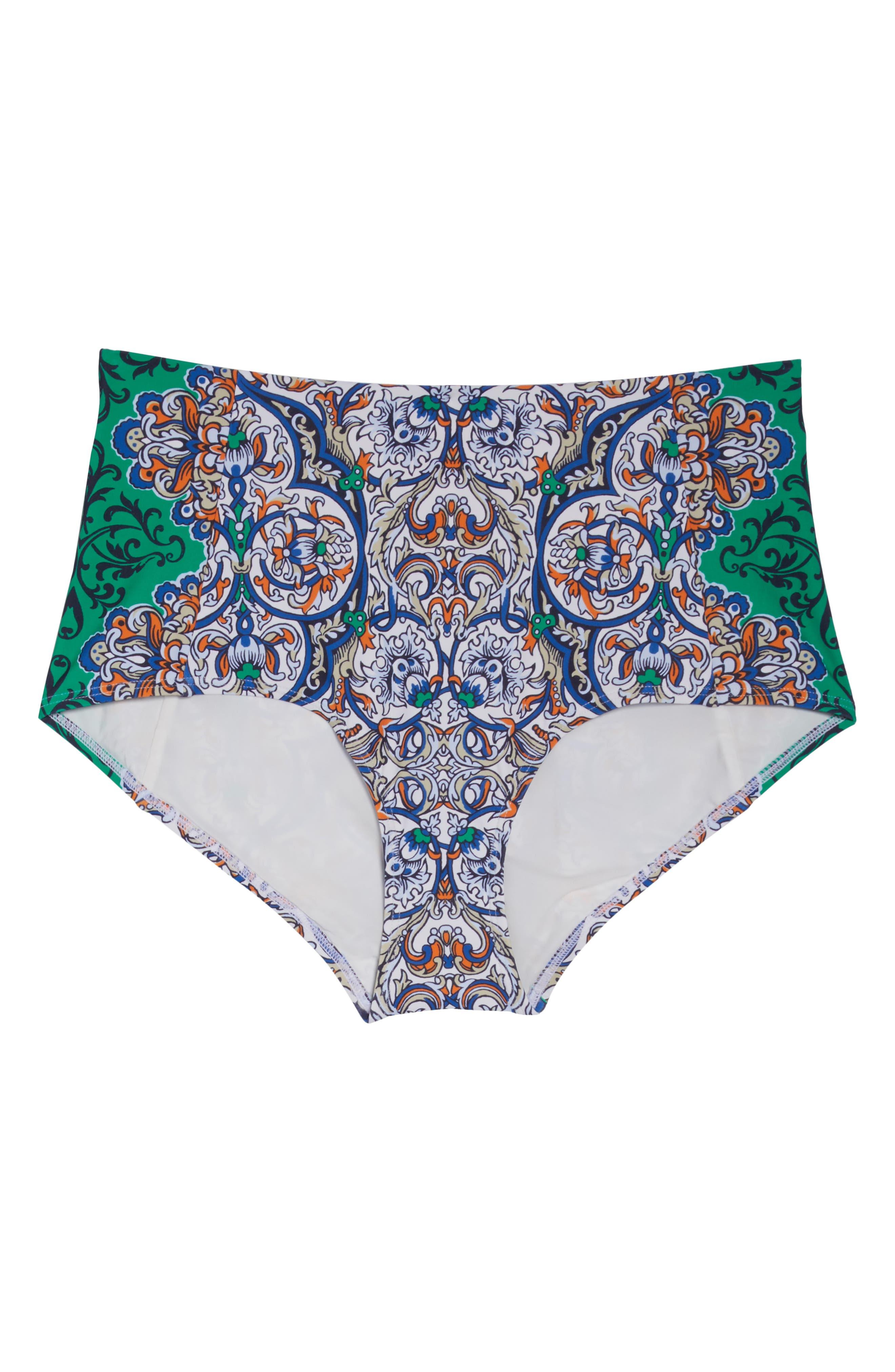 High Waist Bikini Bottoms,                             Alternate thumbnail 6, color,                             GRAND VOYAGE CLASSIC