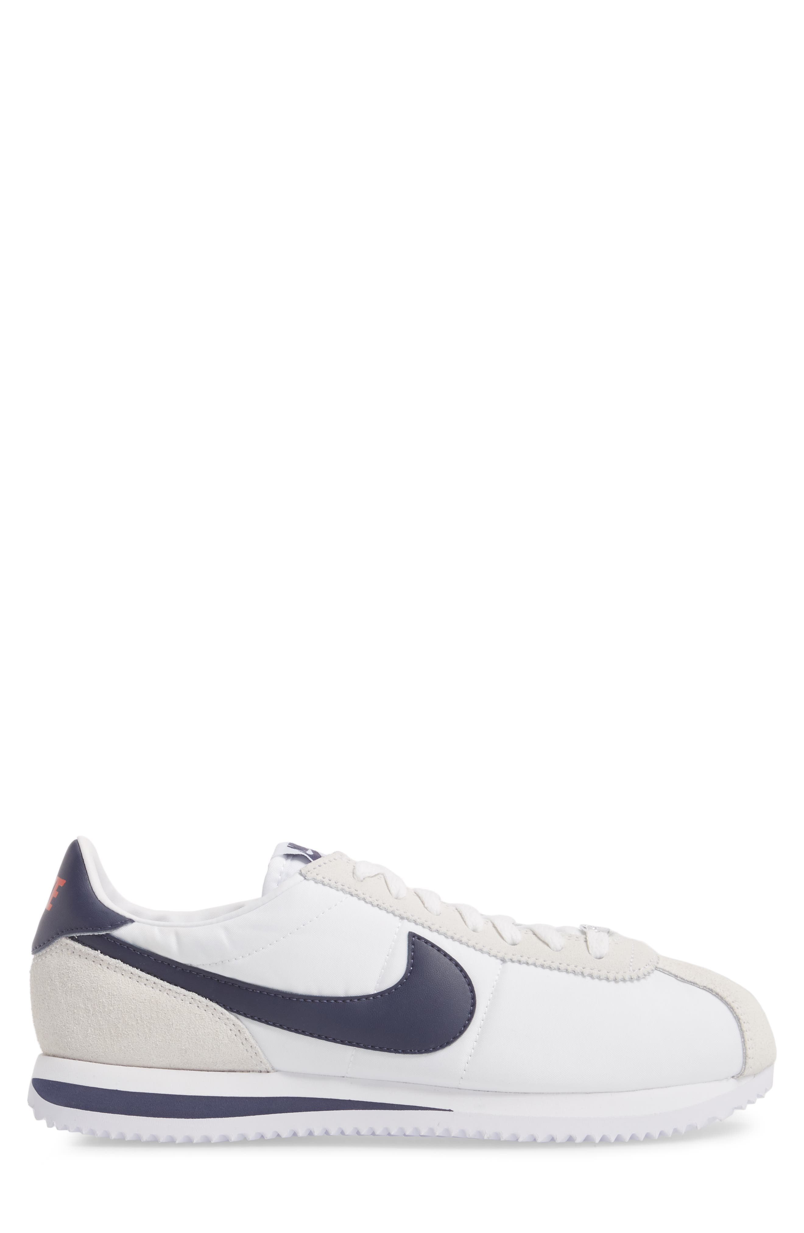 Cortez Basic Nylon Sneaker,                             Alternate thumbnail 3, color,                             102