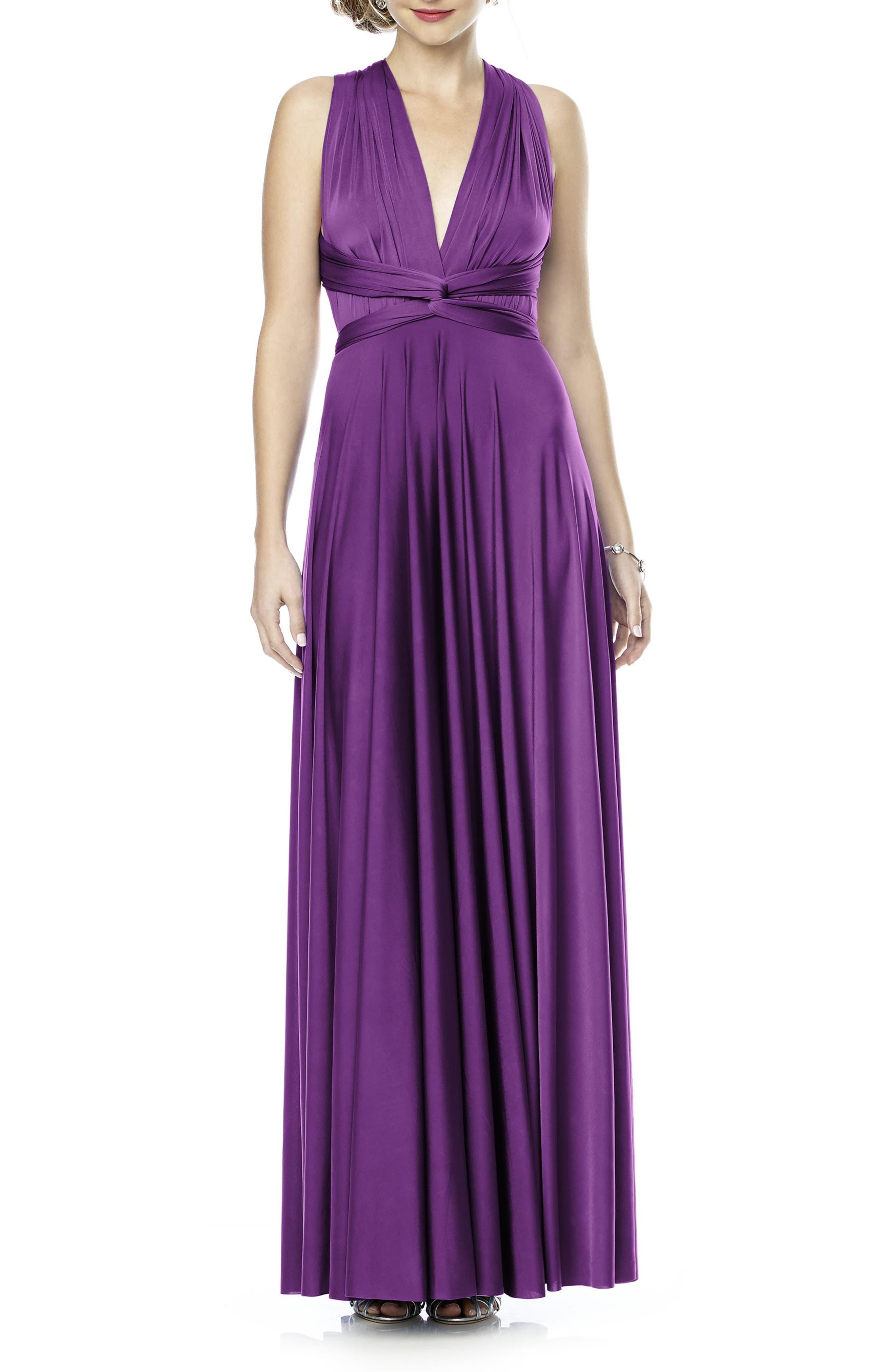 Convertible Wrap Tie Surplice Jersey Gown,                             Alternate thumbnail 35, color,