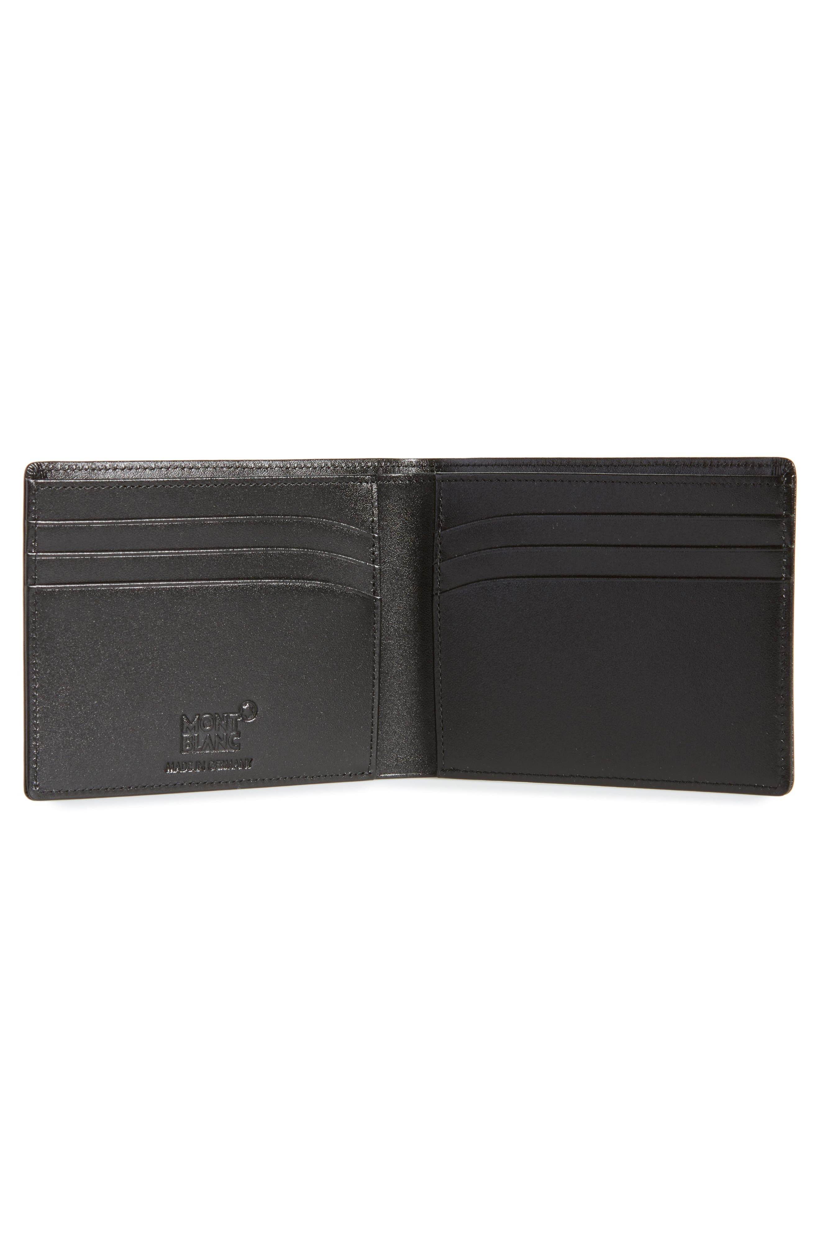 Bifold Leather Wallet,                             Alternate thumbnail 2, color,                             001