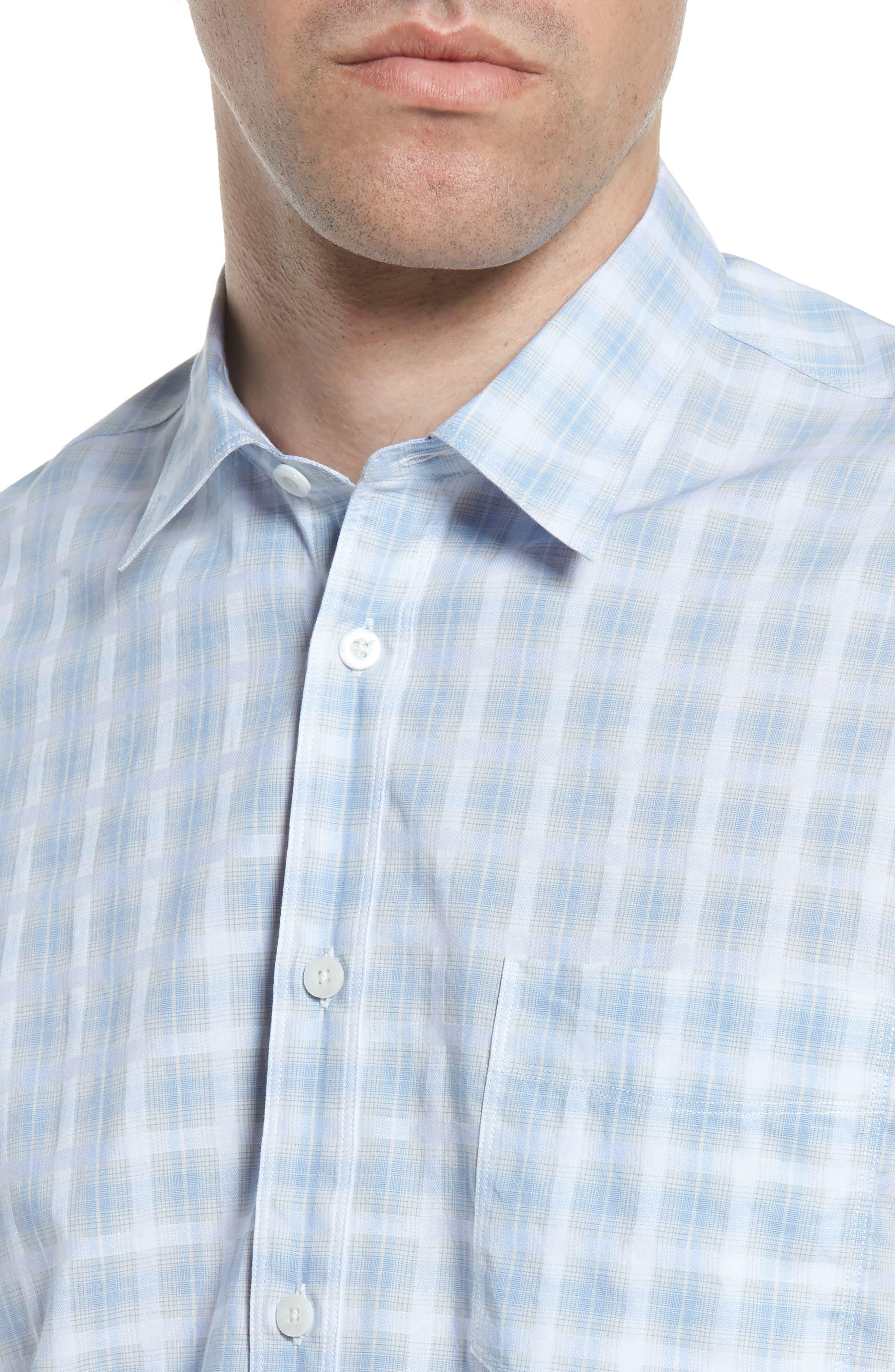 Ponto Regular Fit Check Sport Shirt,                             Alternate thumbnail 4, color,                             451