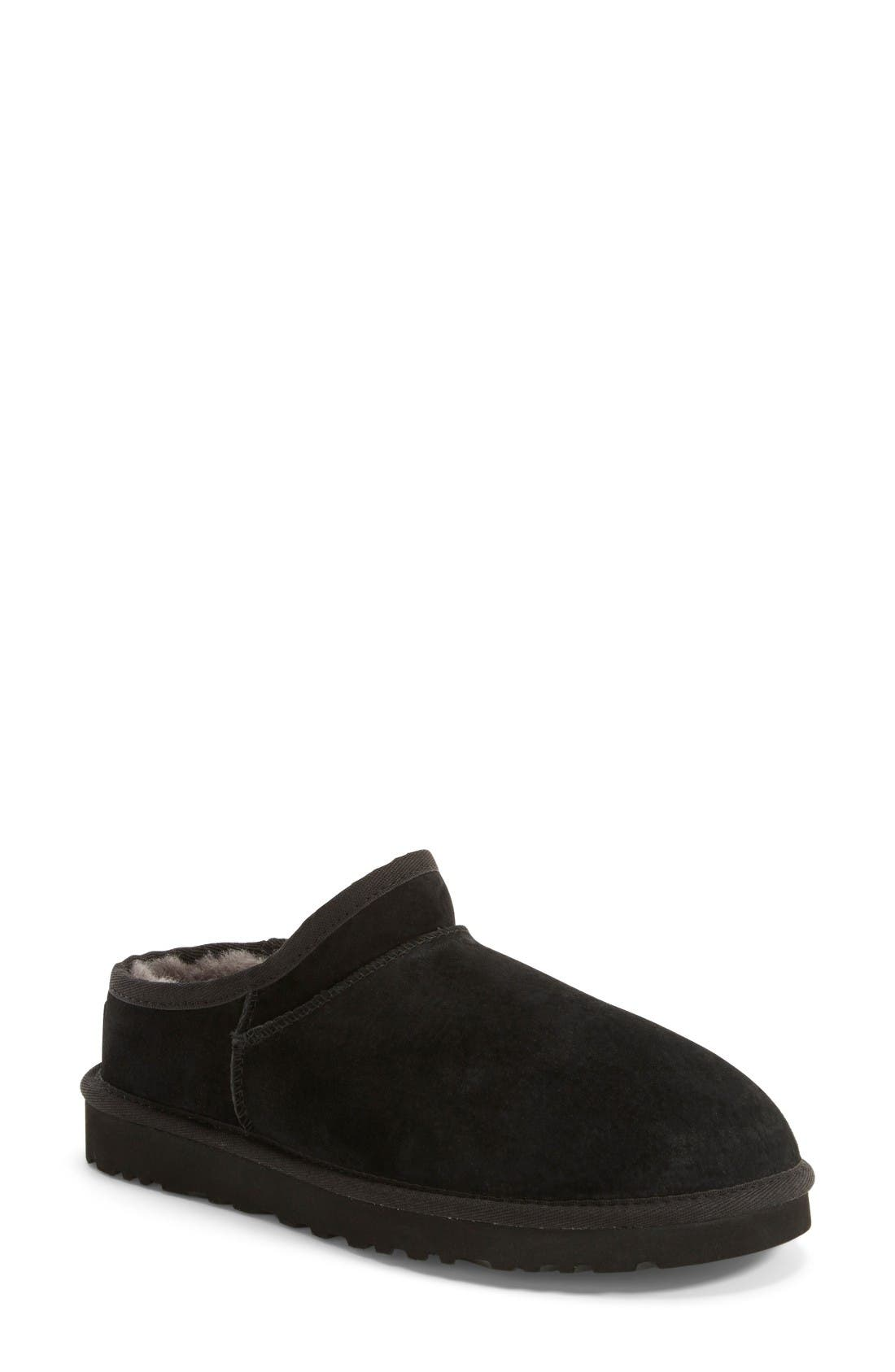 UGG<SUP>®</SUP>,                             Classic Water Resistant Slipper,                             Main thumbnail 1, color,                             001