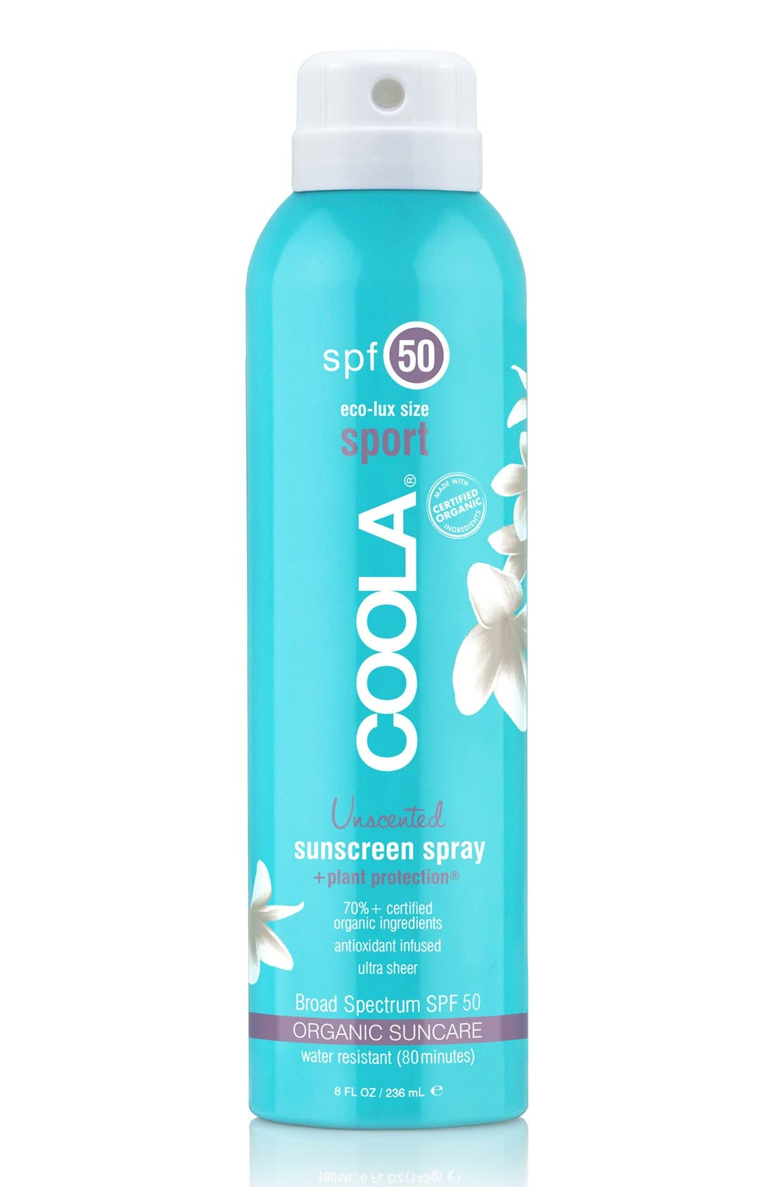 COOLA<sup>®</sup> Suncare Unscented Sport Sunscreen Spray SPF 50,                             Alternate thumbnail 2, color,                             000