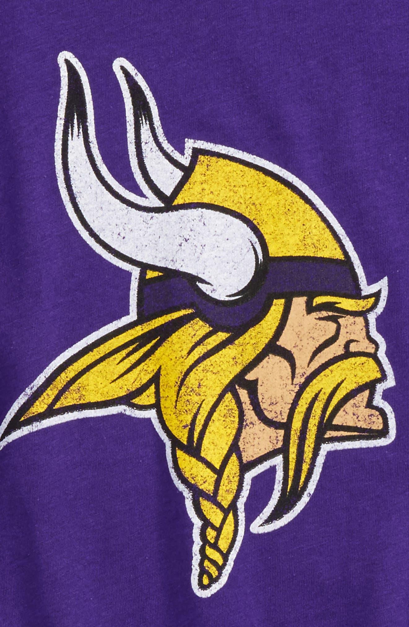 NFL Minnesota Vikings Distressed Graphic T-Shirt,                             Alternate thumbnail 2, color,                             500